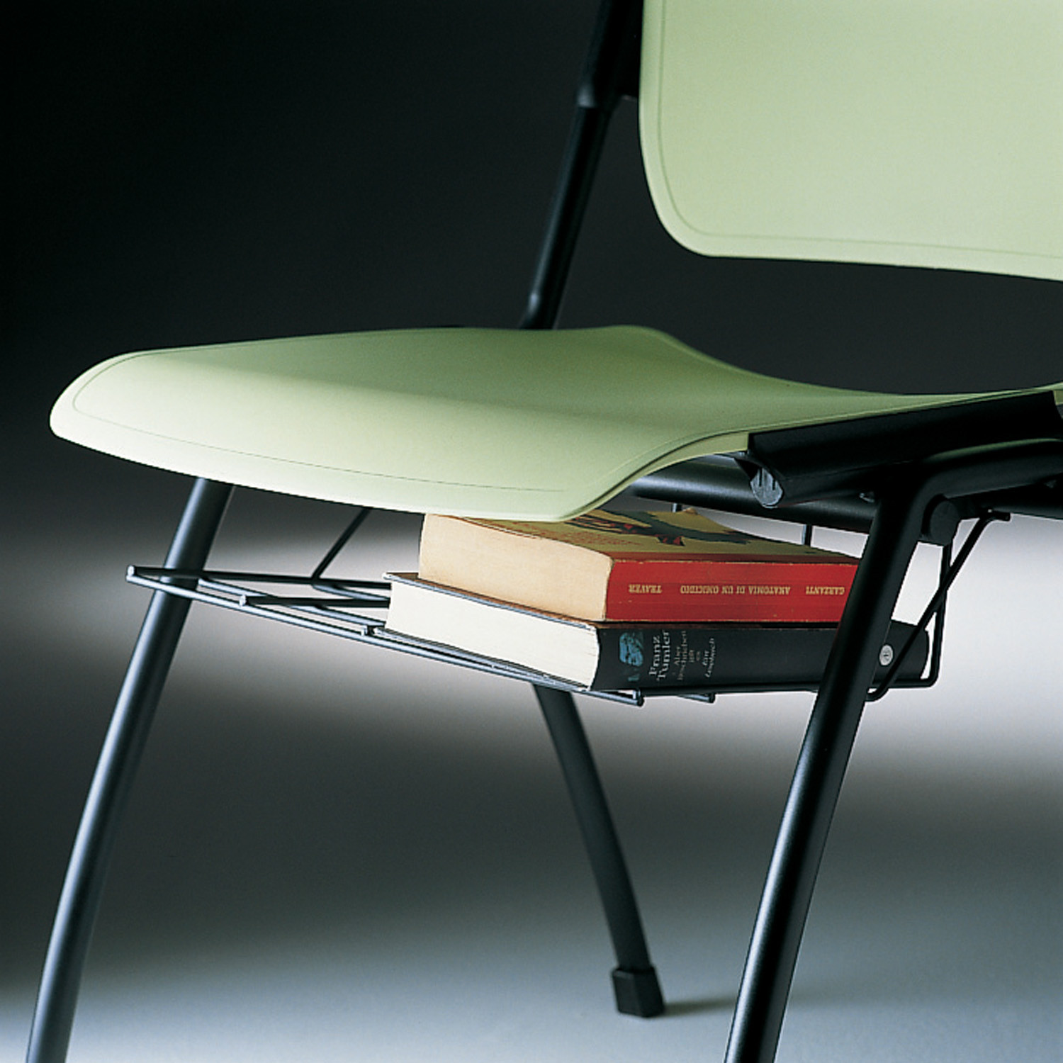 Mimi Chair can be fitted with a book-basket