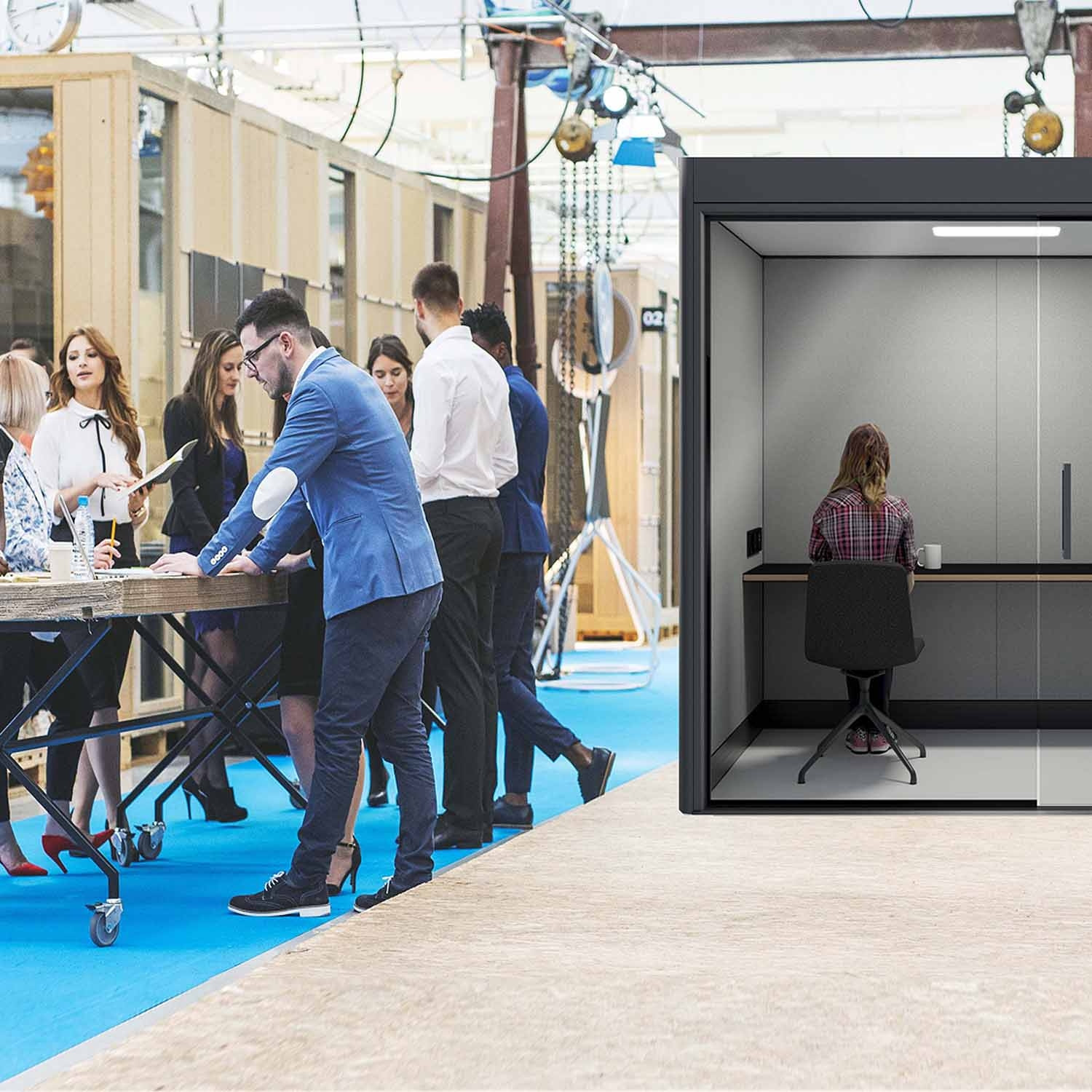 Spacio Work Pod Acoustic Privacy