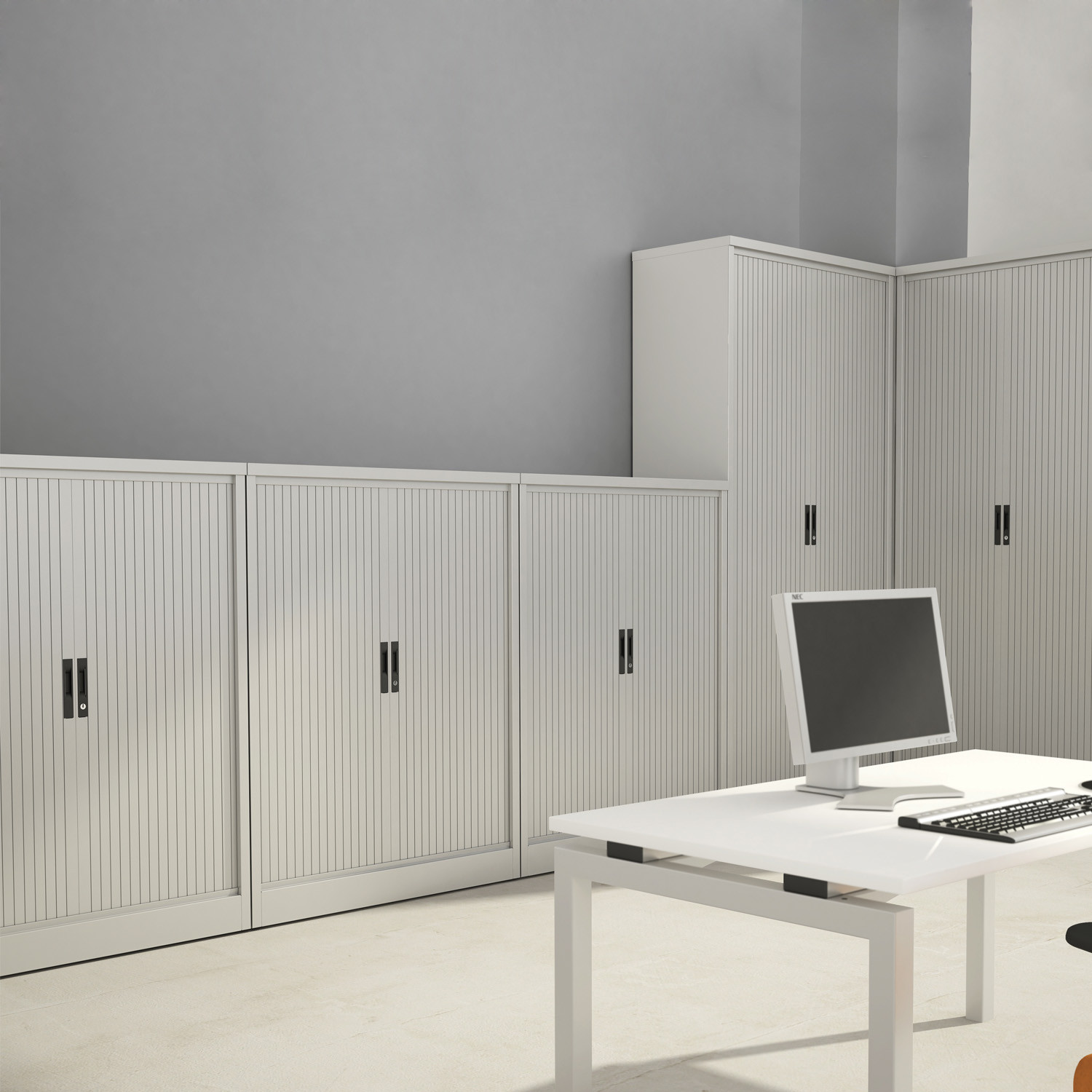 M:Line Side Tambour Cupboards by Silverline