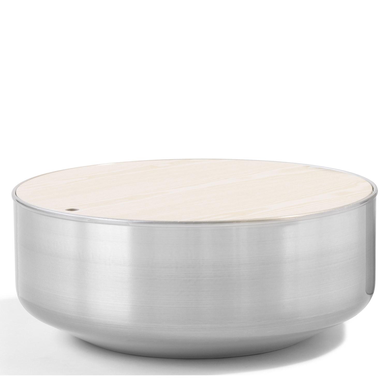 Mono Spun Aluminium Table L89