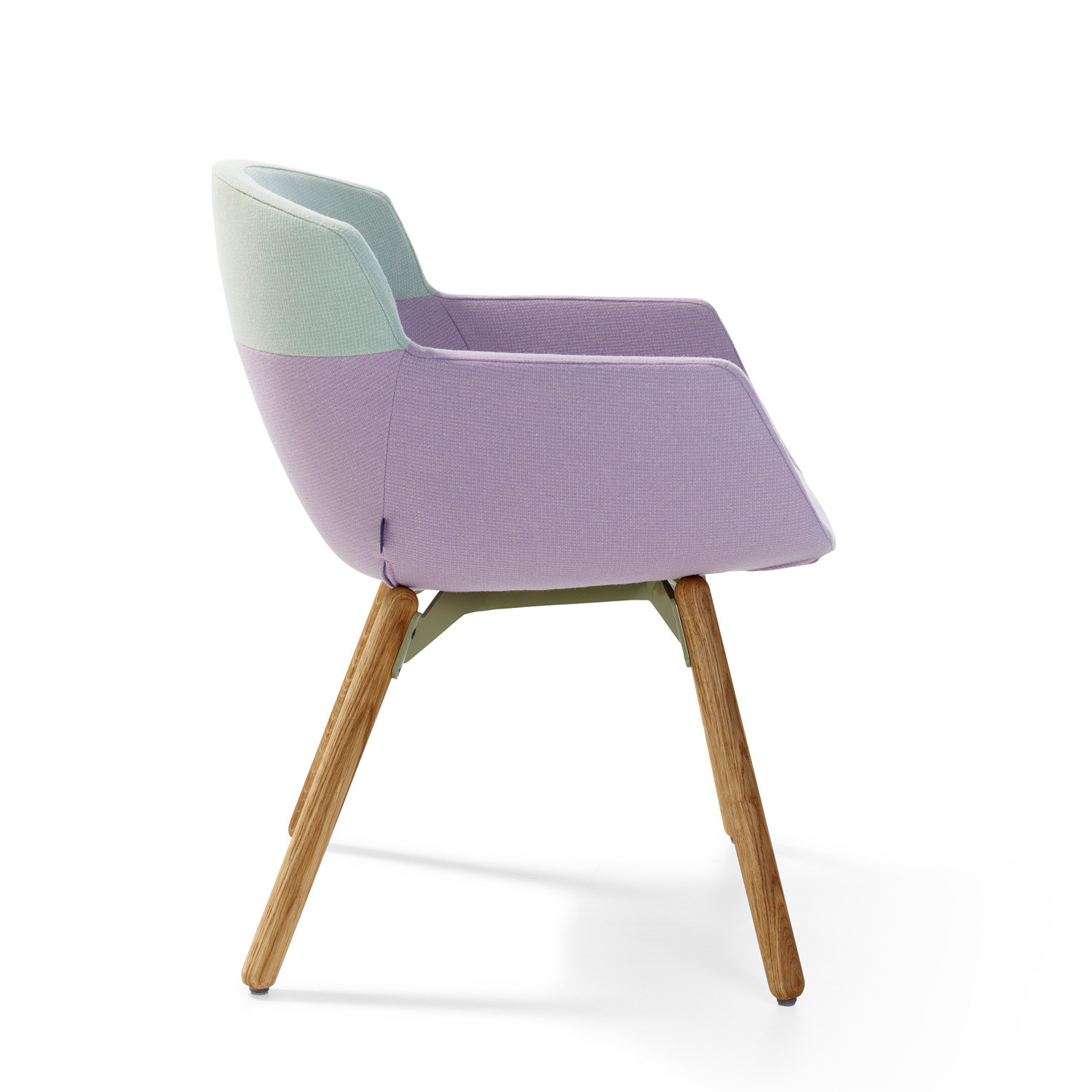 Mood Armchair with wooden frame