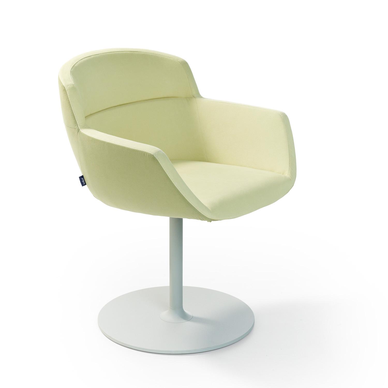 Mood Armchair with rotary disc base