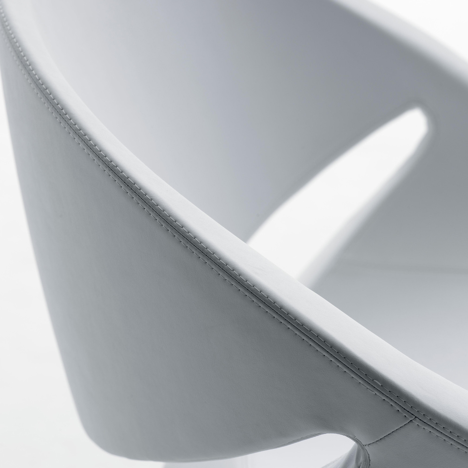 Mya Chair leather upholstery detail