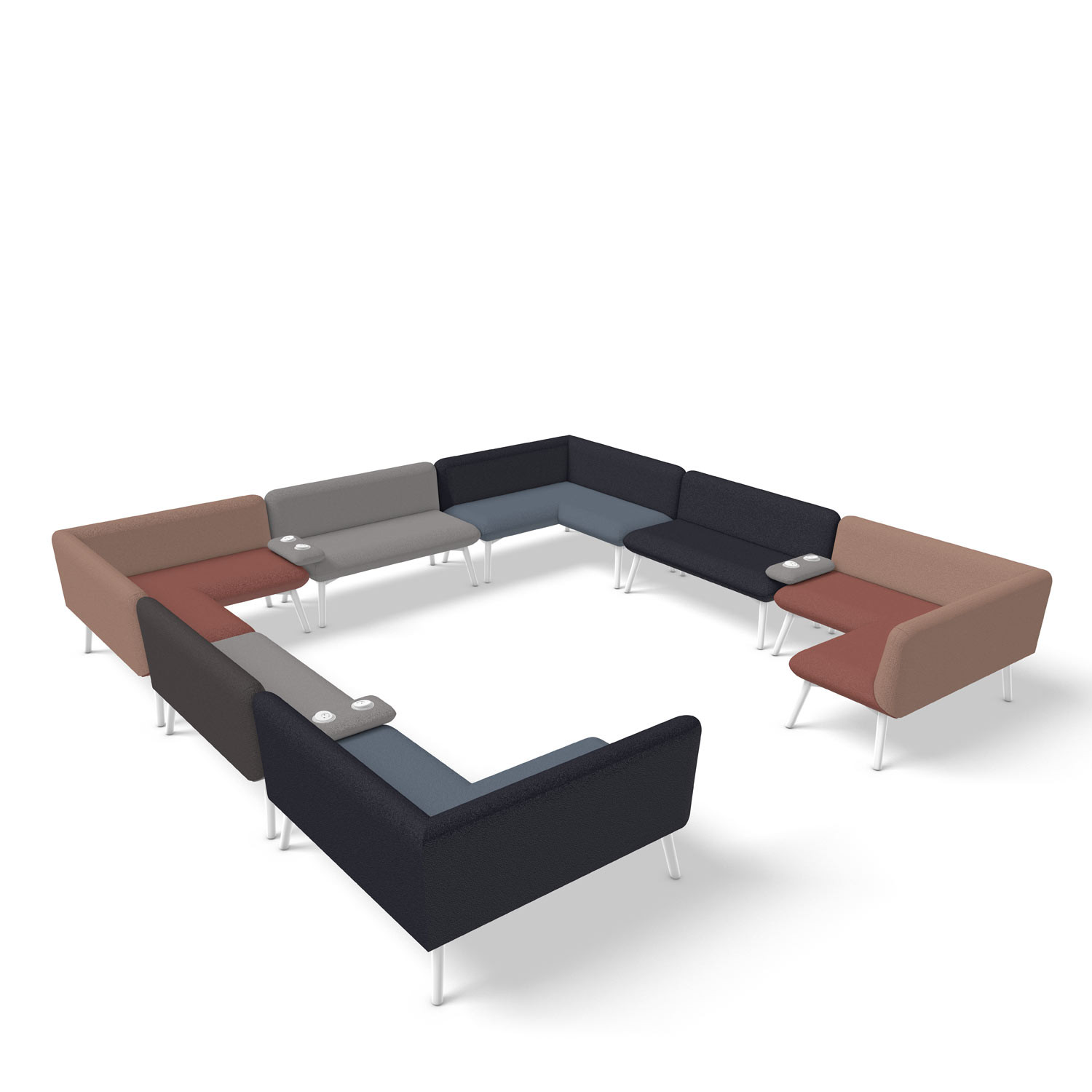 Myriad Sofa Work Place Huddle Solution