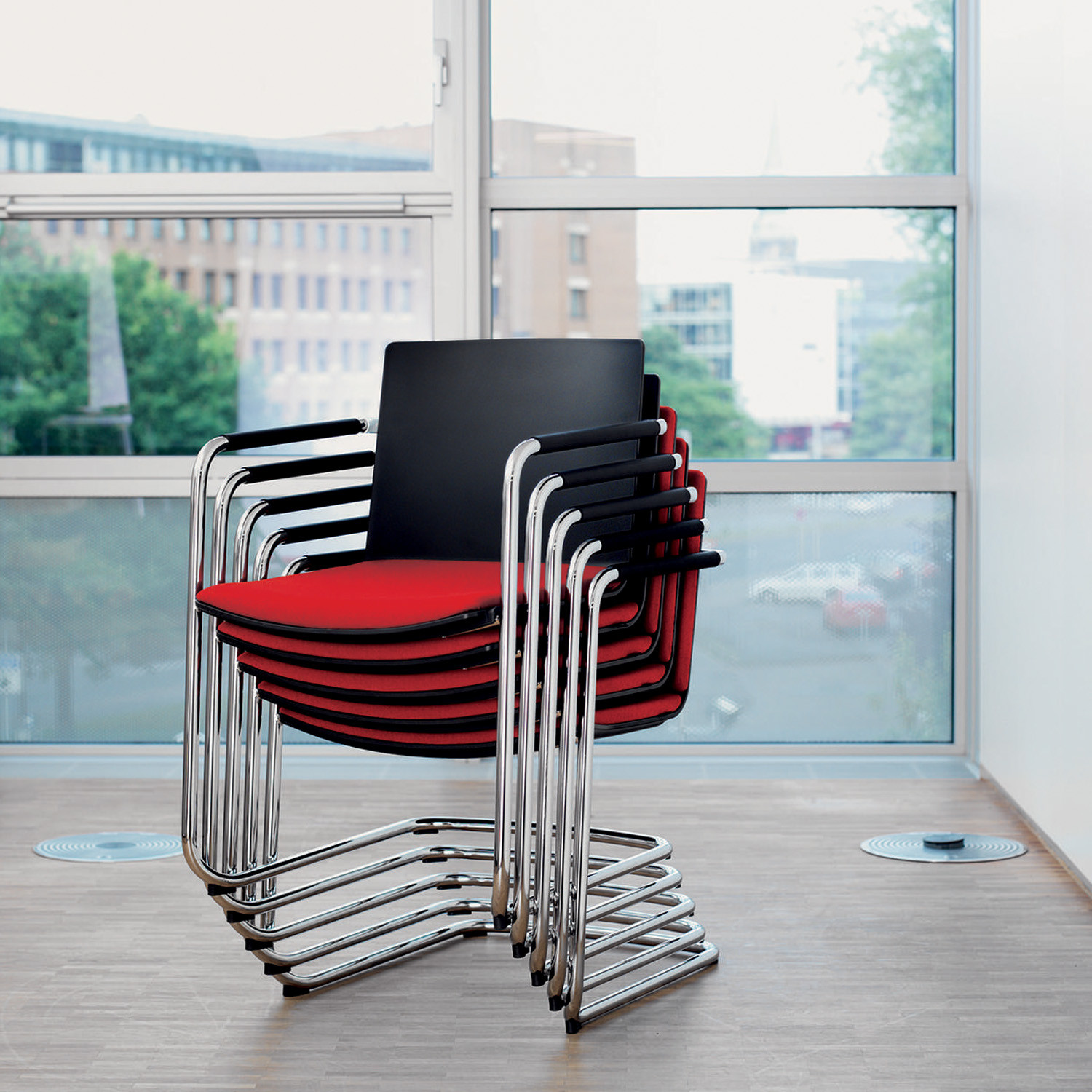 Neos Cantilever Stacking Chair