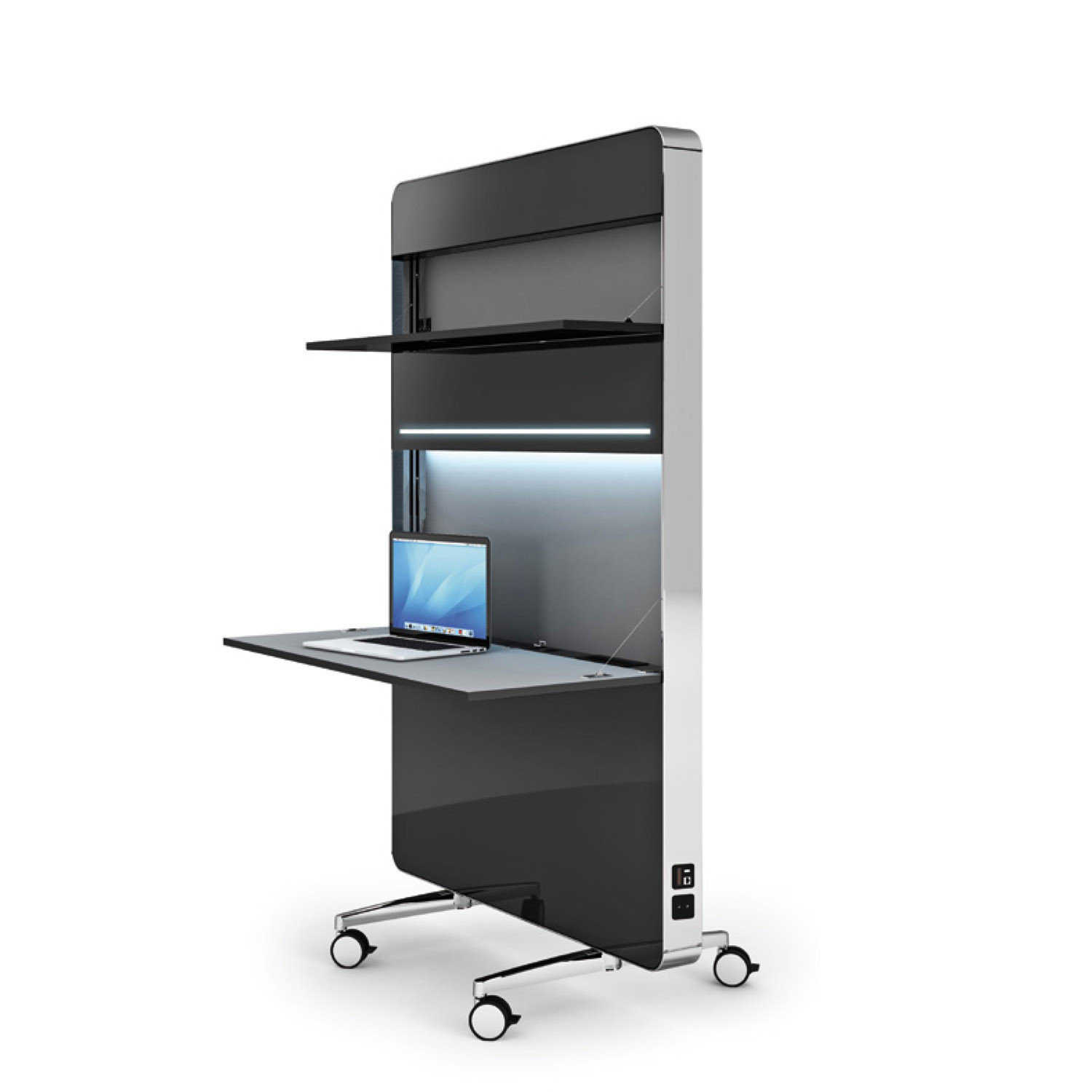 Nomado Flip Top Workstations by Mobica Plus