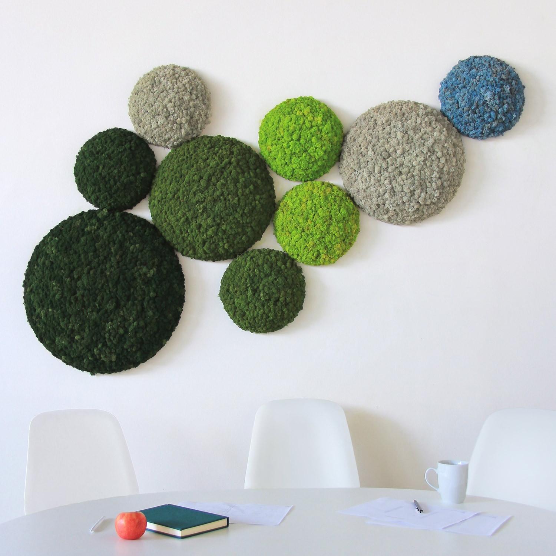 Nordgröna Moss Convex Round Wall Panels
