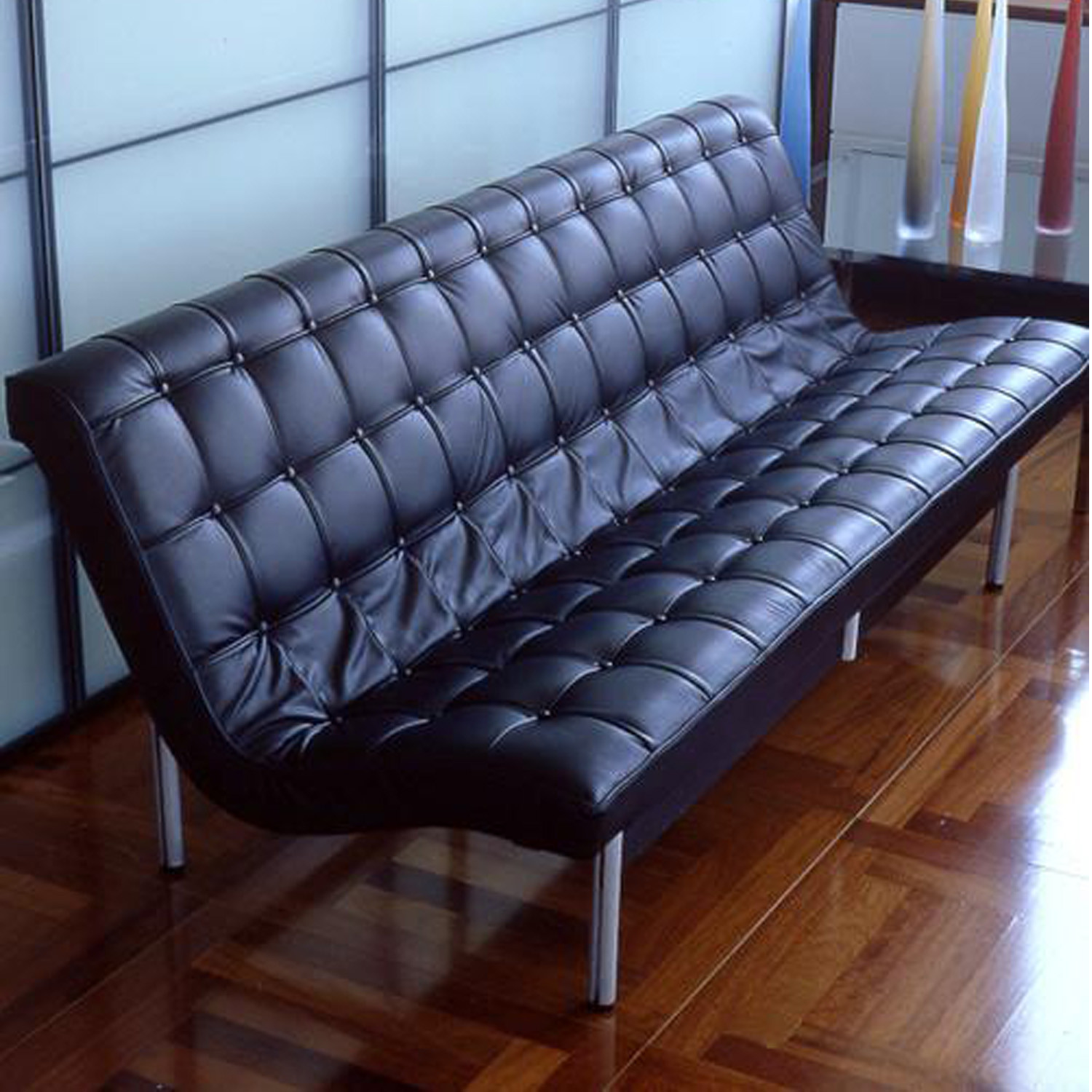 New York Leather Sofa by ICF Spa