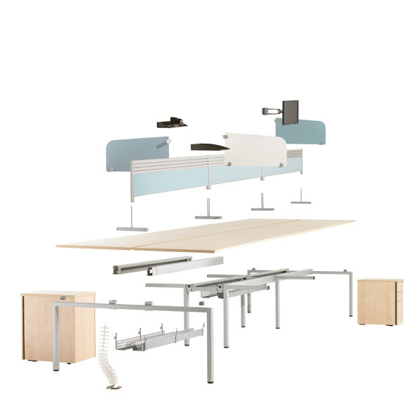 Oblique Visual Bench Desking