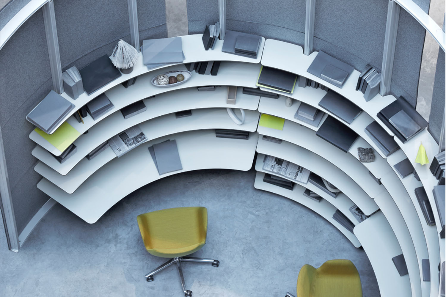 Oblivion Office Workstations from Koray Malhan