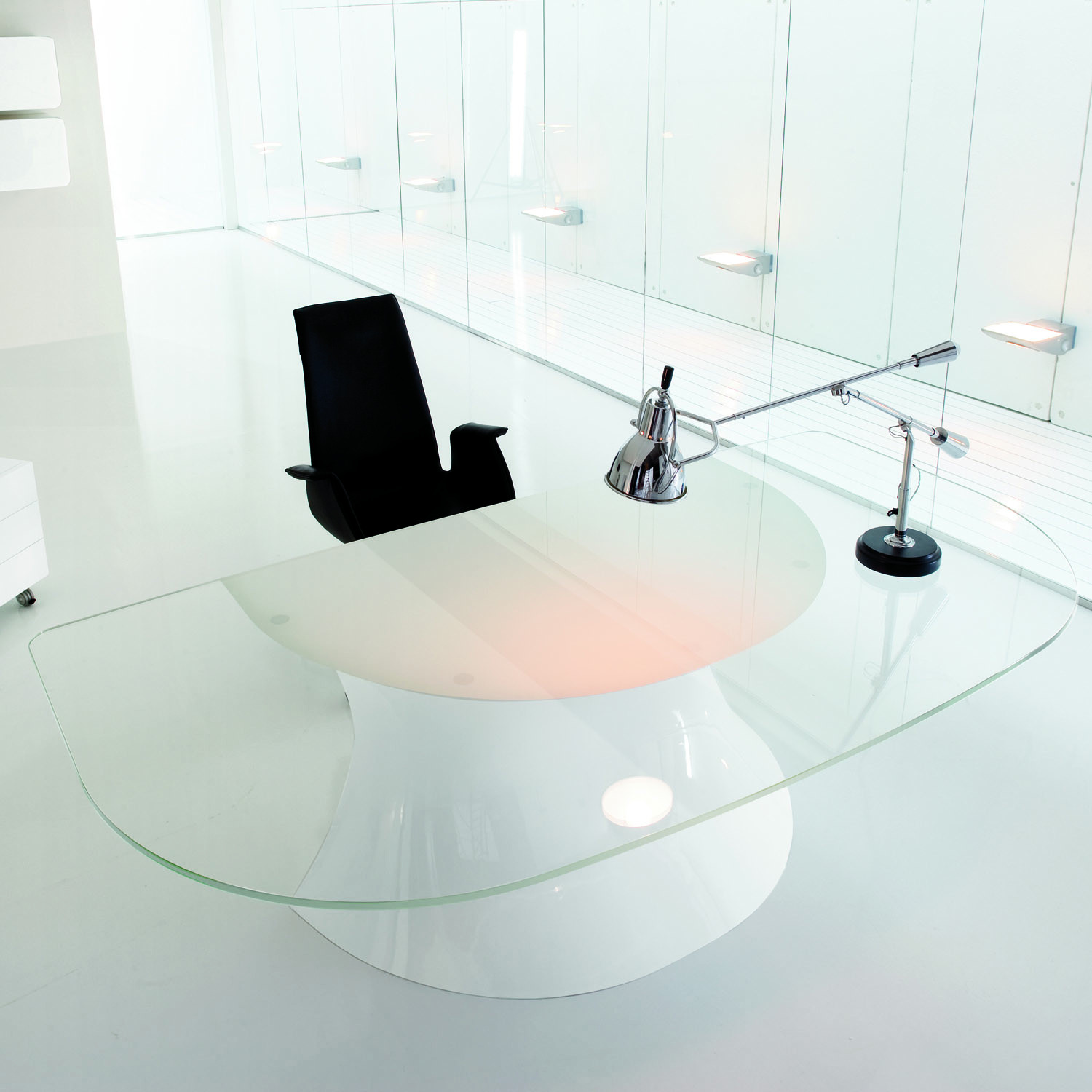 Ola Executive Glass Desk