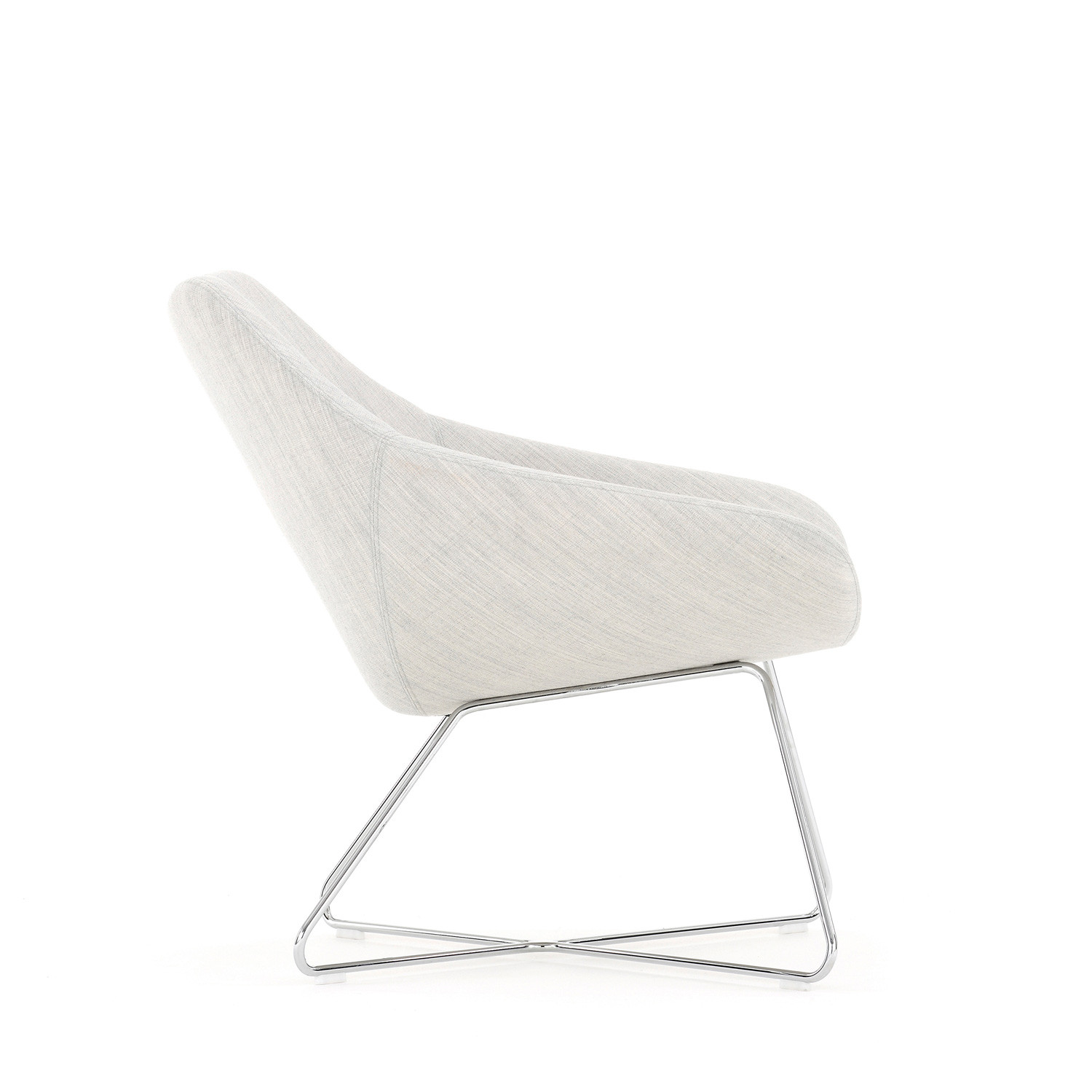 A642 Open Lounge Chair Side View