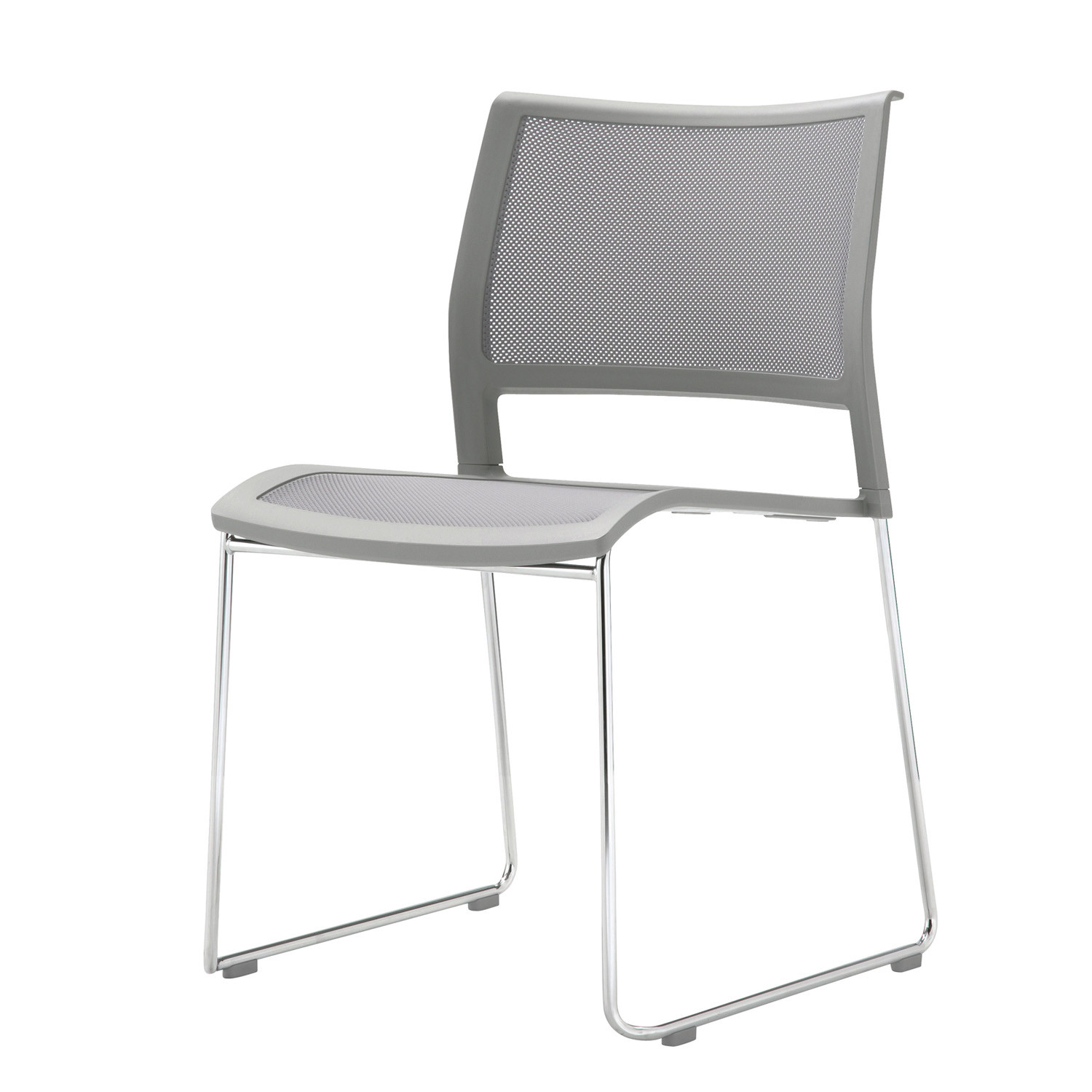 Opt4 White Cantilever Chair