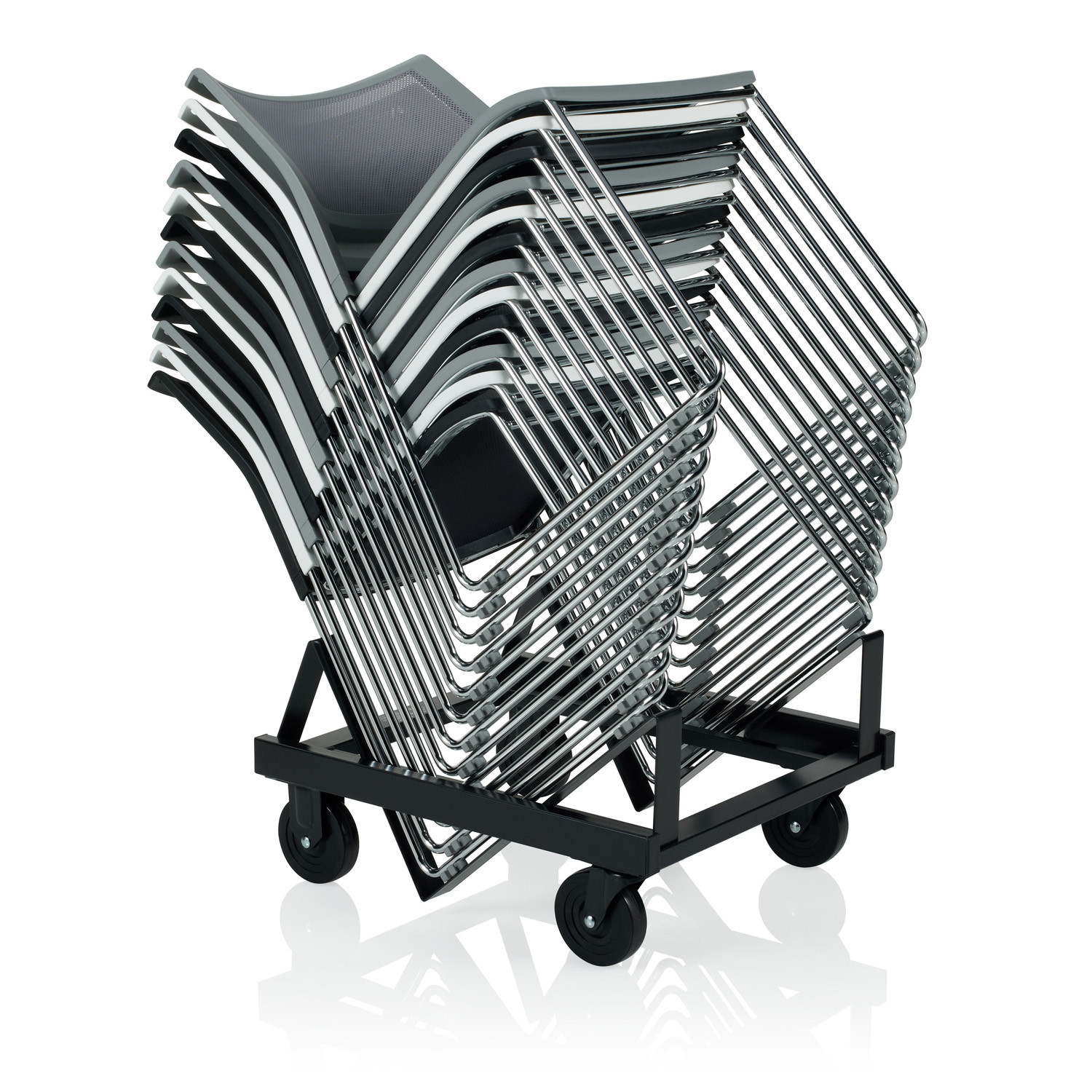 Opt4 High Density Stacking Chairs with trolley