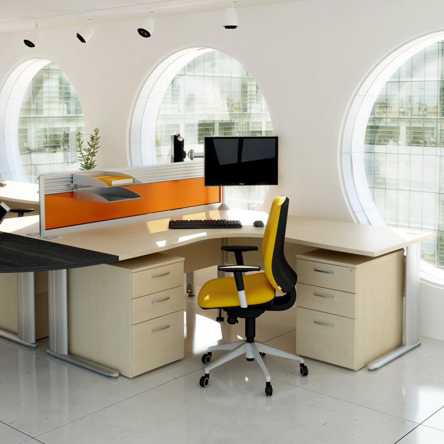 Optima Plus Workstation with desk pedestals