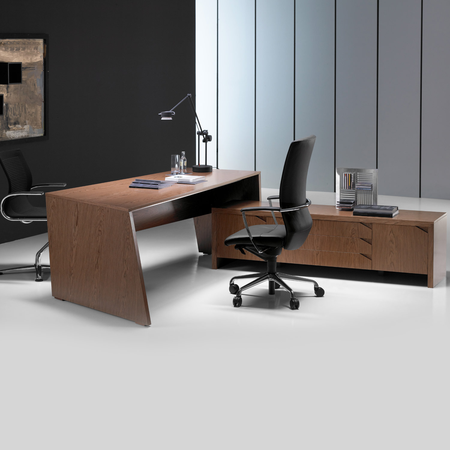 Origami Executive Desk in Walnut