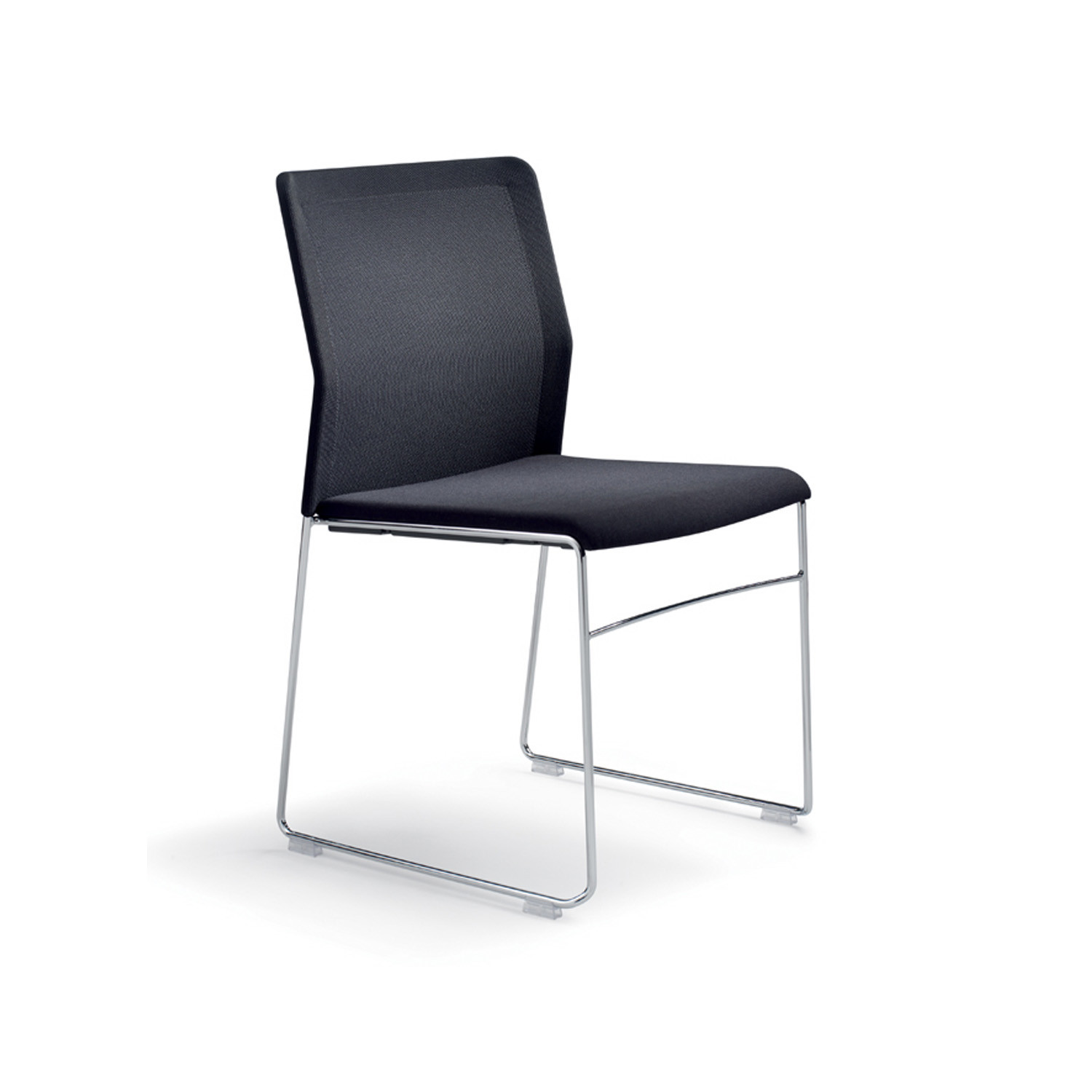 Outline Stacking Chair Upholstered
