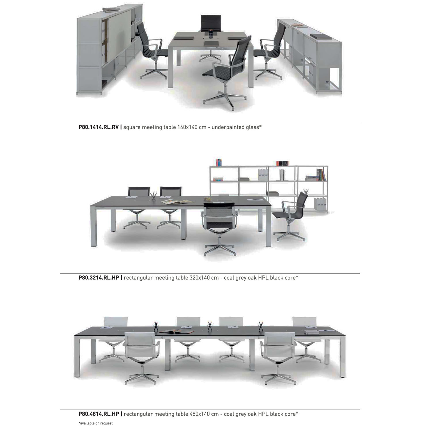 P80 Square & Rectangular Tables