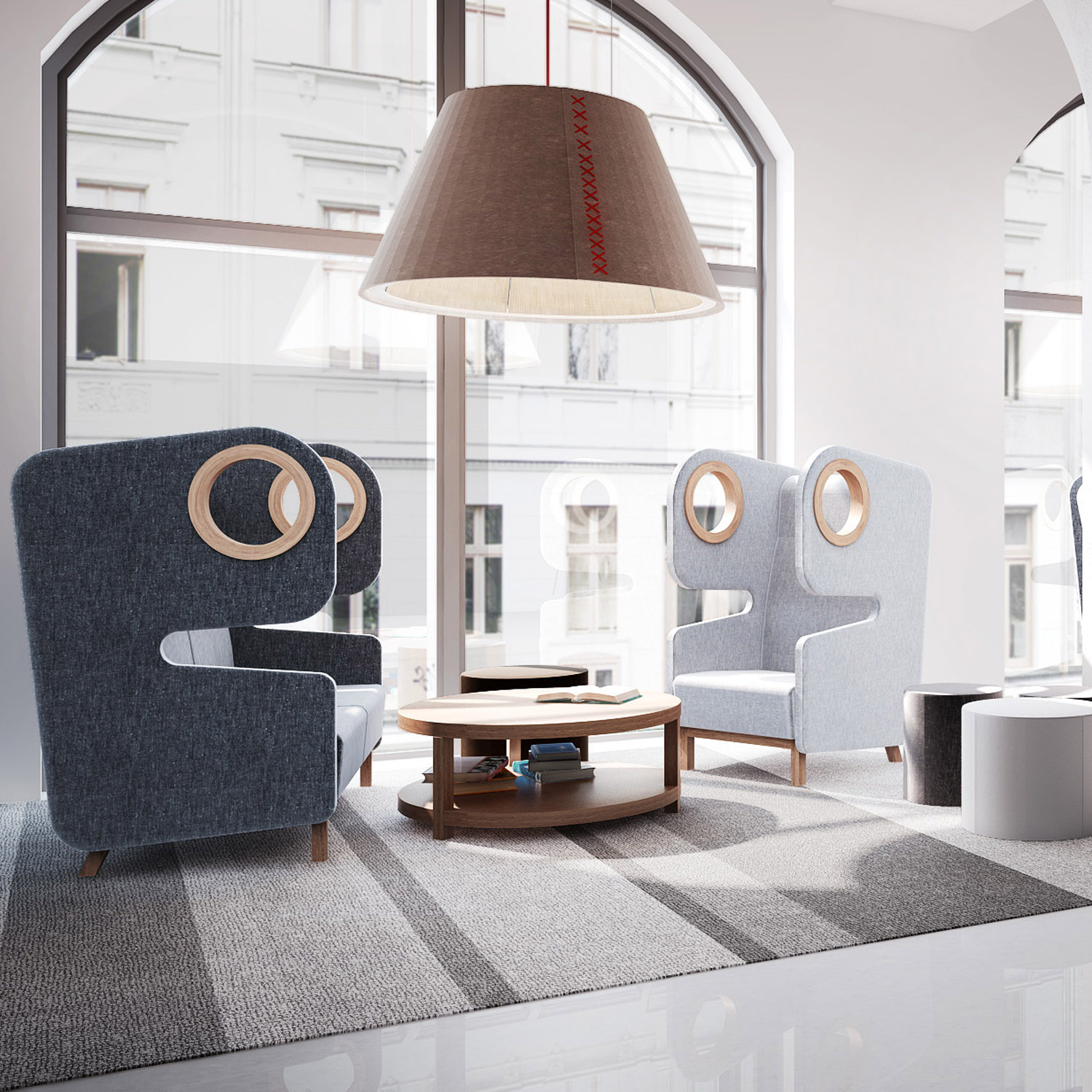 Packman High Back Acoustic Seating