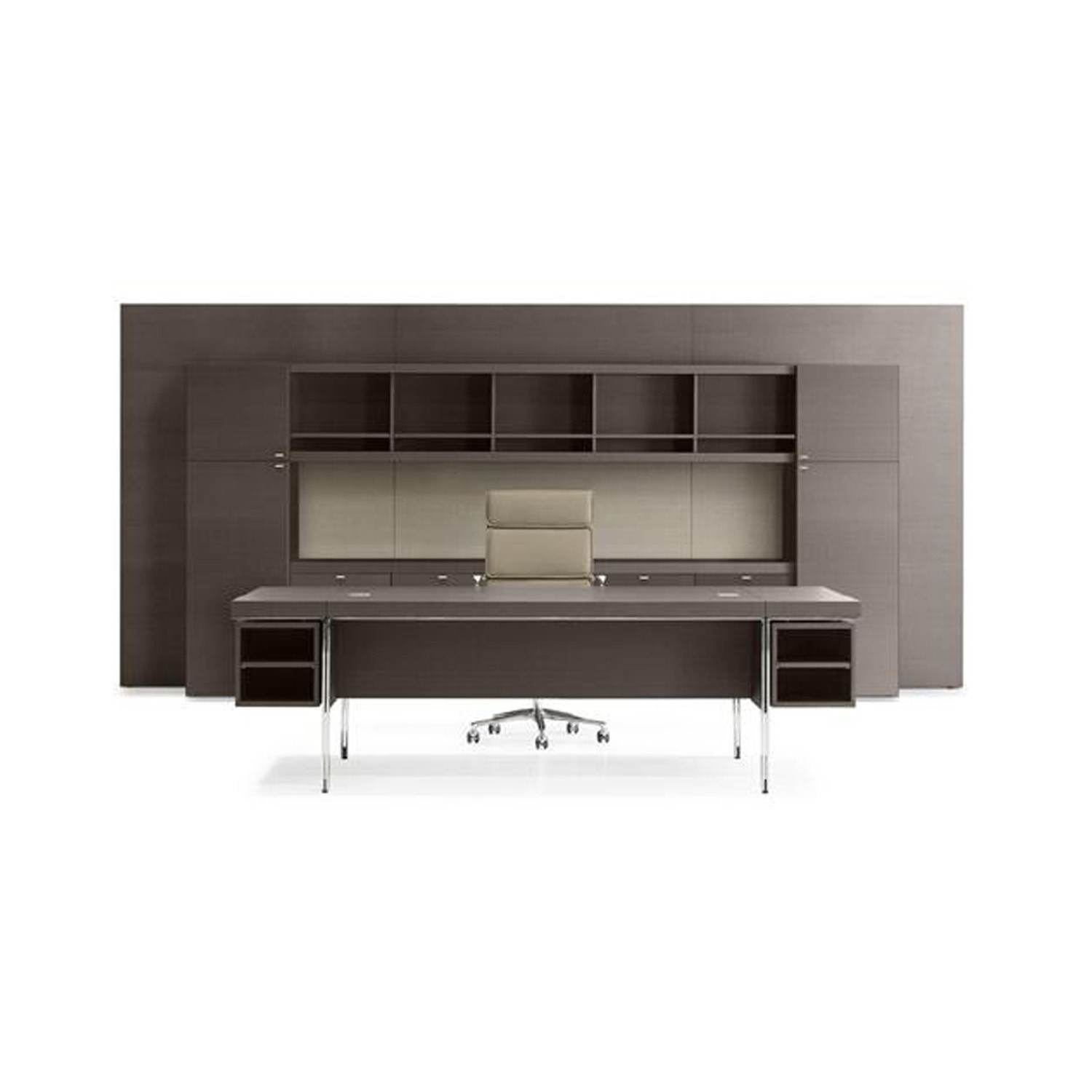 Parallel Executive Group Desk in multilaminar wood veneer