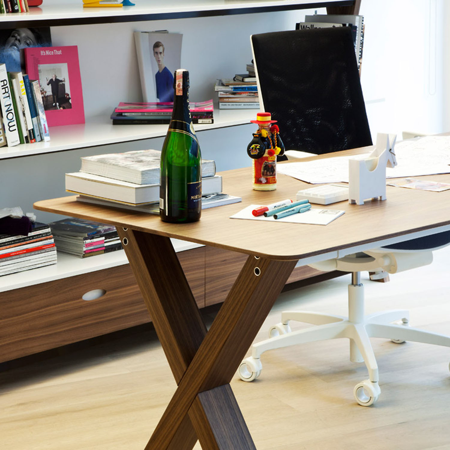 Partita X-Frame Wooden Desk