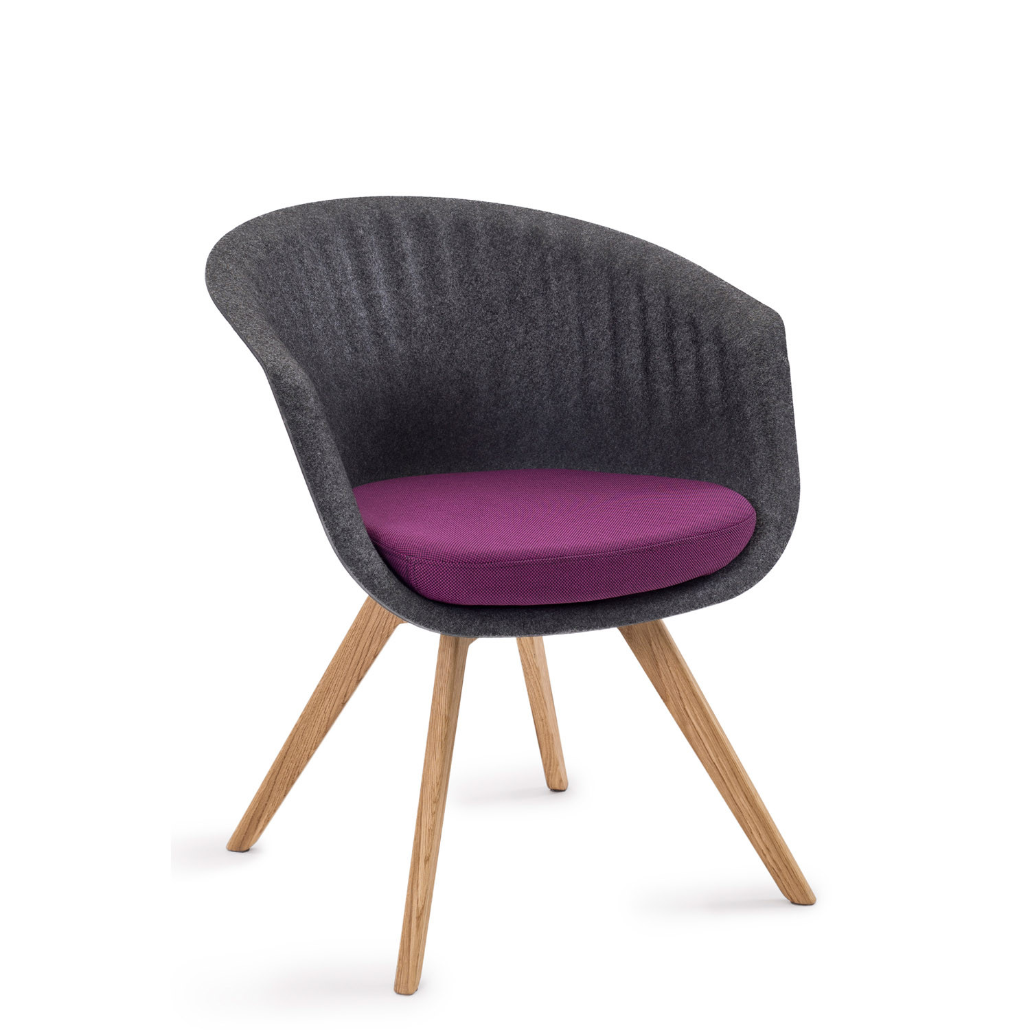 Pearl Chair MPL1A with Oak Legs