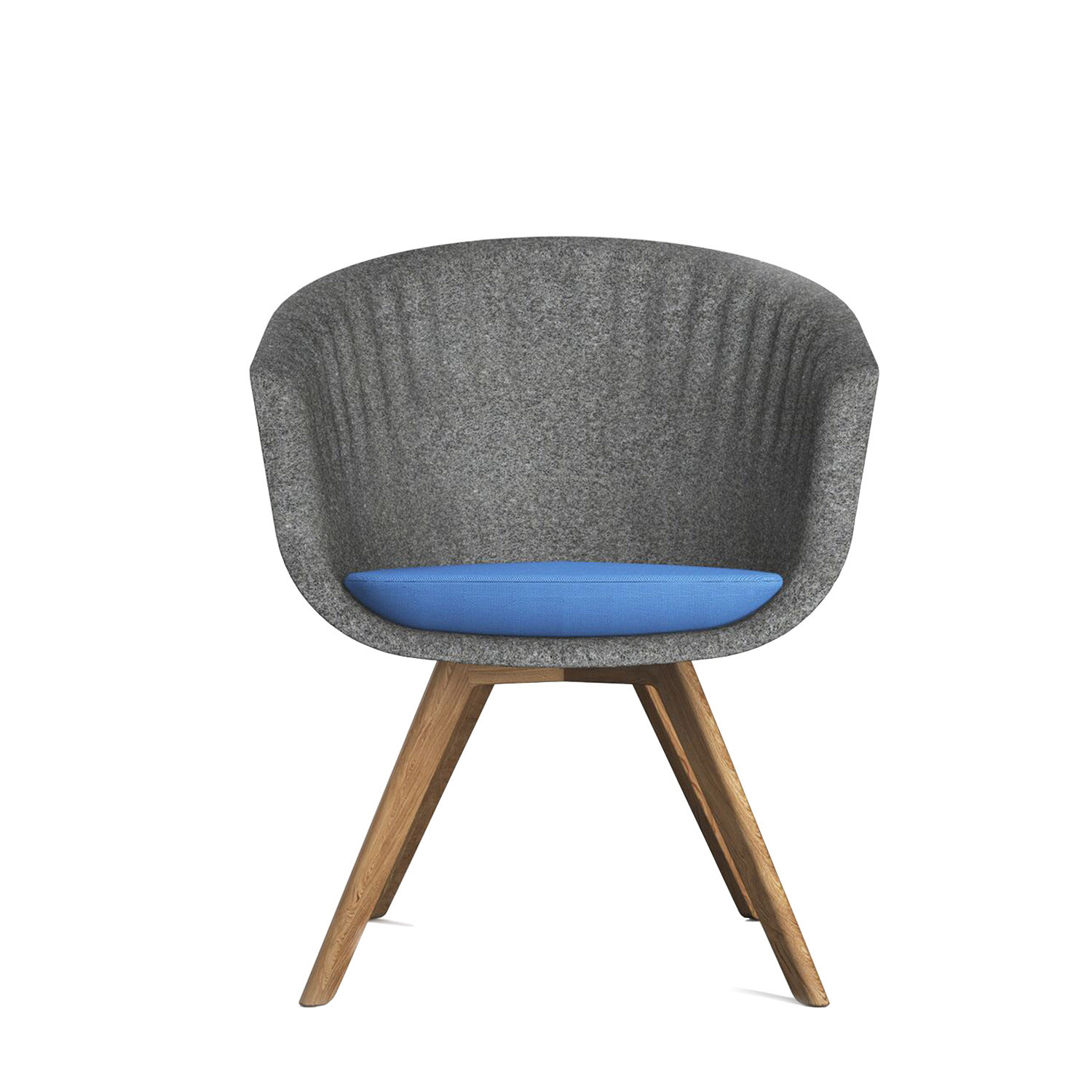 Pearl Moulded Felt Chair by Connection