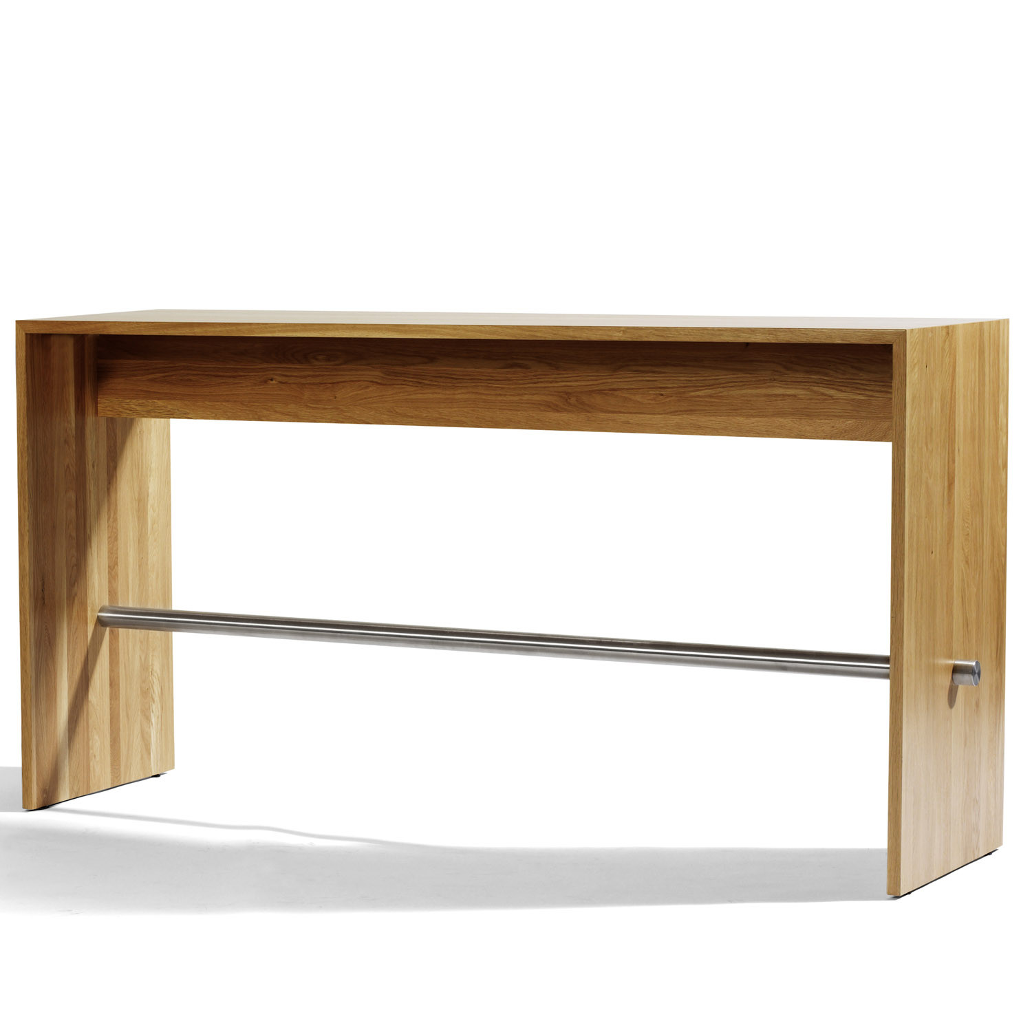 Ping-Pong Solid Oak Bar Table