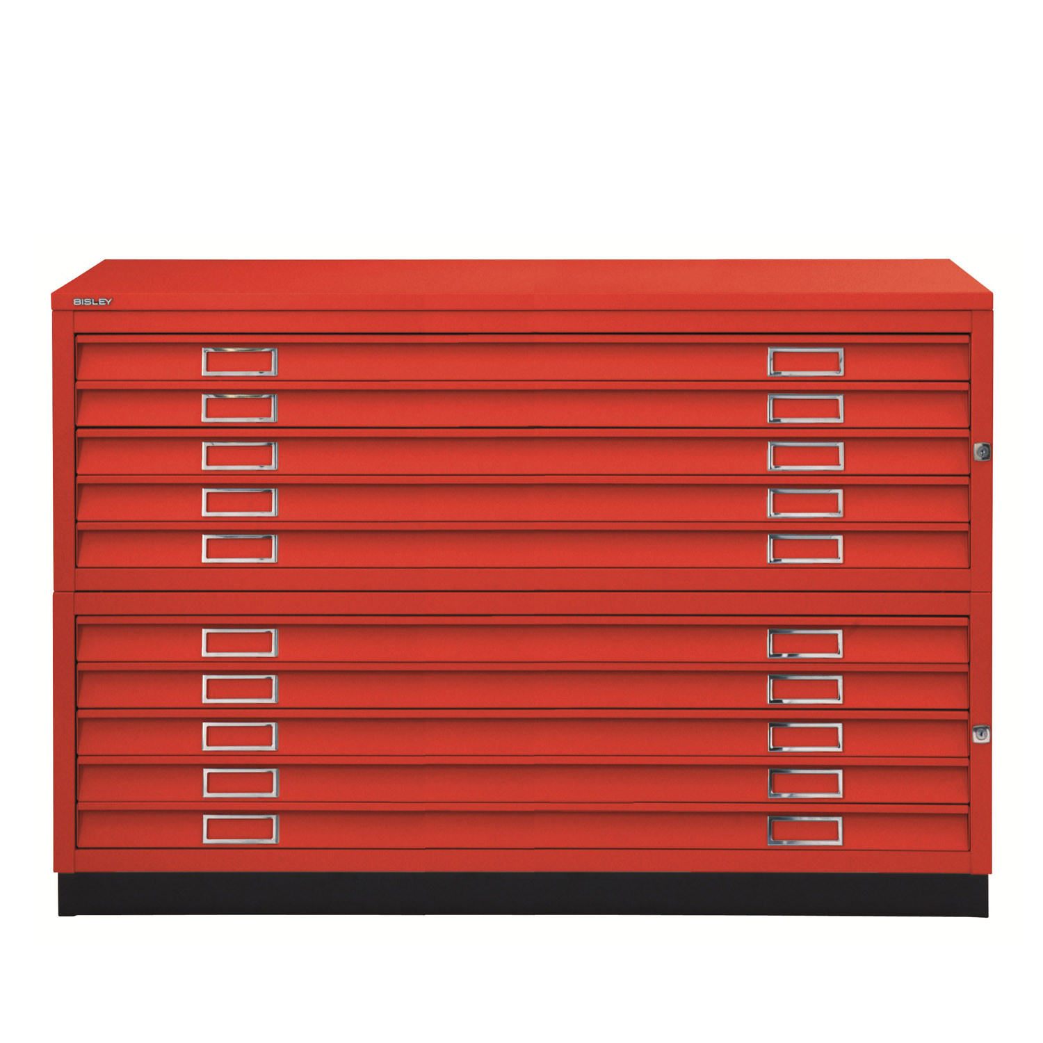 Plan Files 10 Drawer Unit in Red