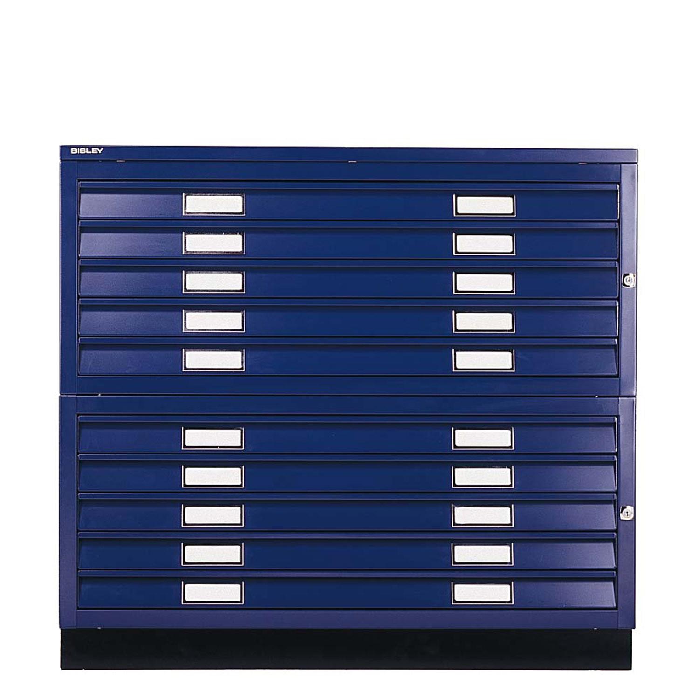 Plan Files 10 Drawer Unit in Blue