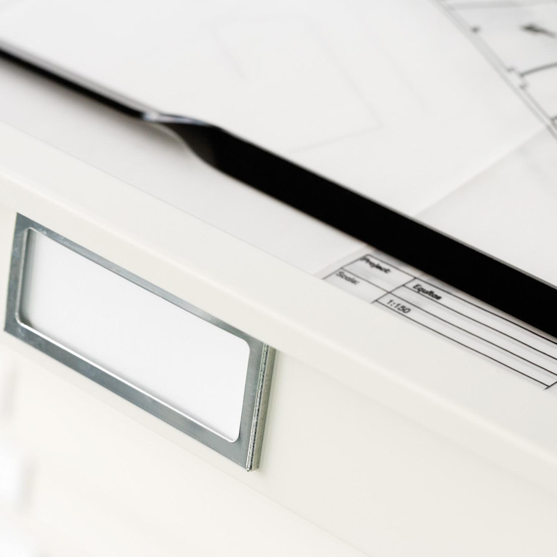 Plan File Cabinet Label Holder Detail