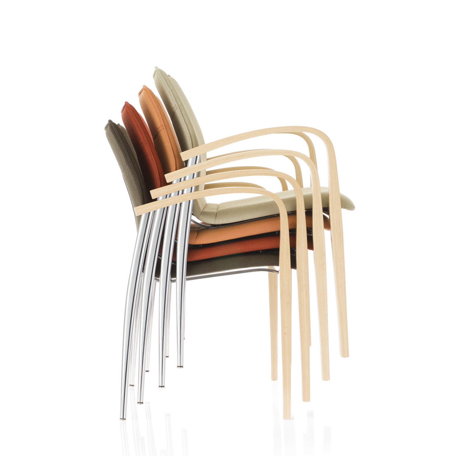 Plaza Stackable Chairs with 4-Legged Frame