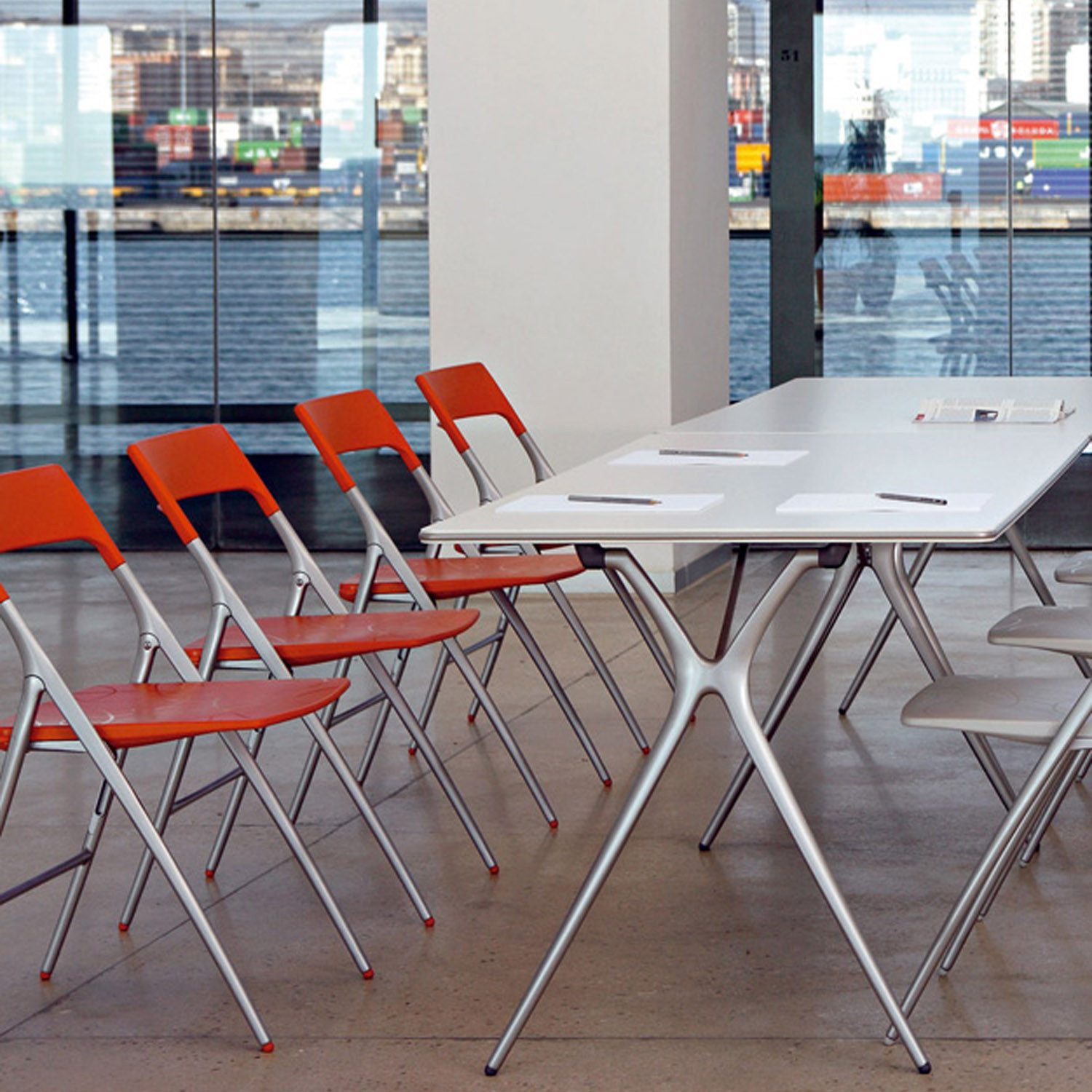 Actiu Plek Chairs and Plek Folding Table