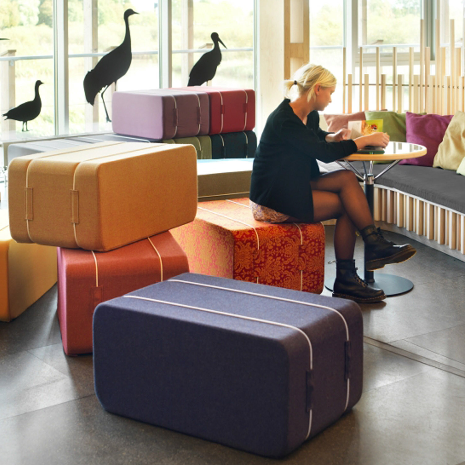 PM A11 Soft Seating Hay Bales by Bla Station