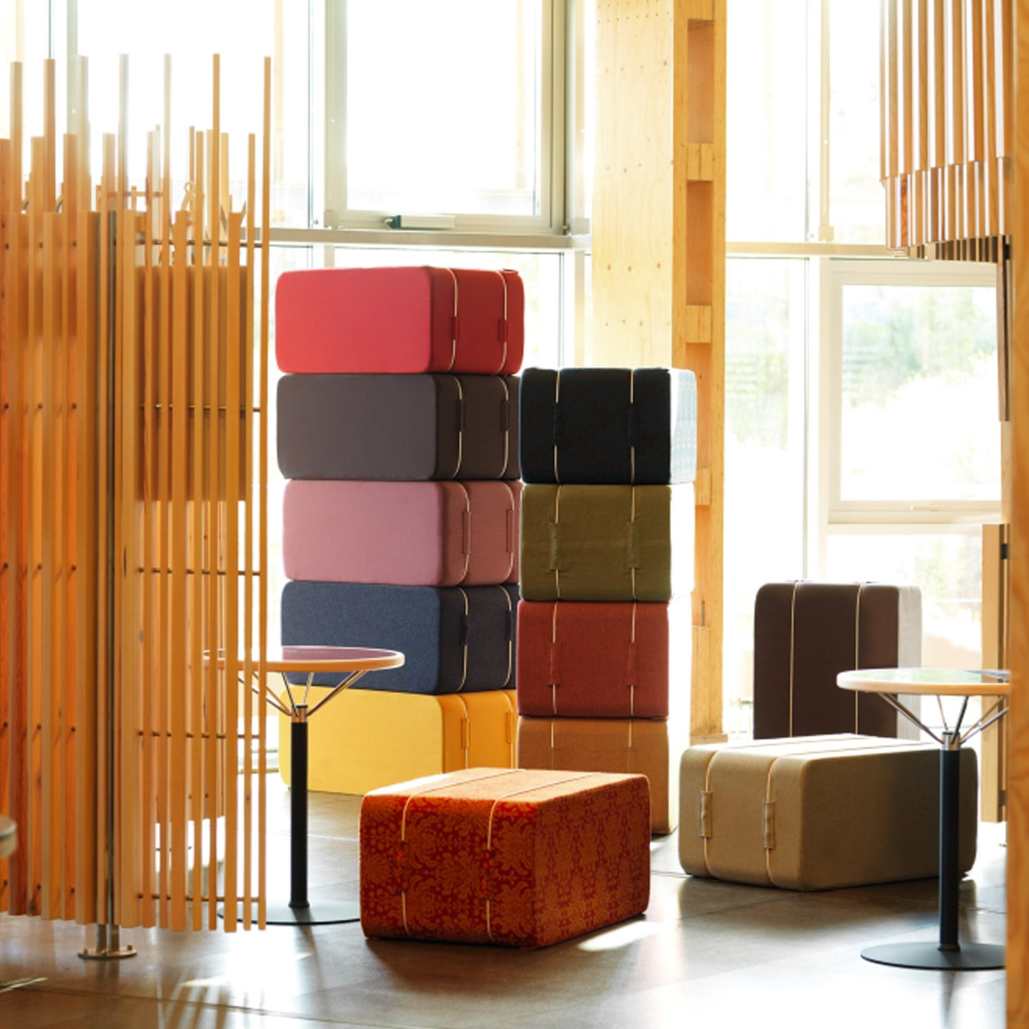 PM A11 Stacked Seating Stools