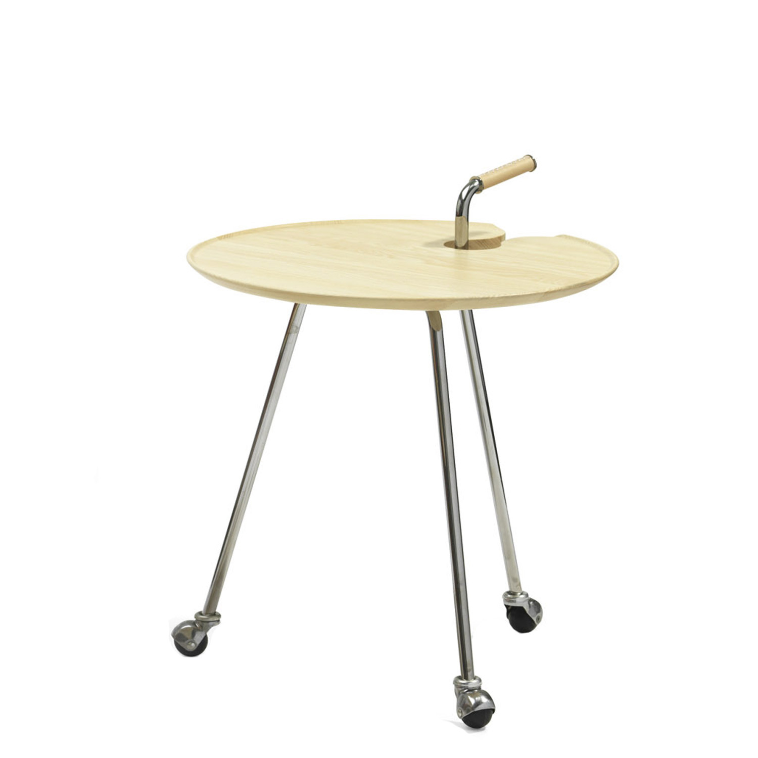 Pond L841 Table Trolley in moulded ash wood
