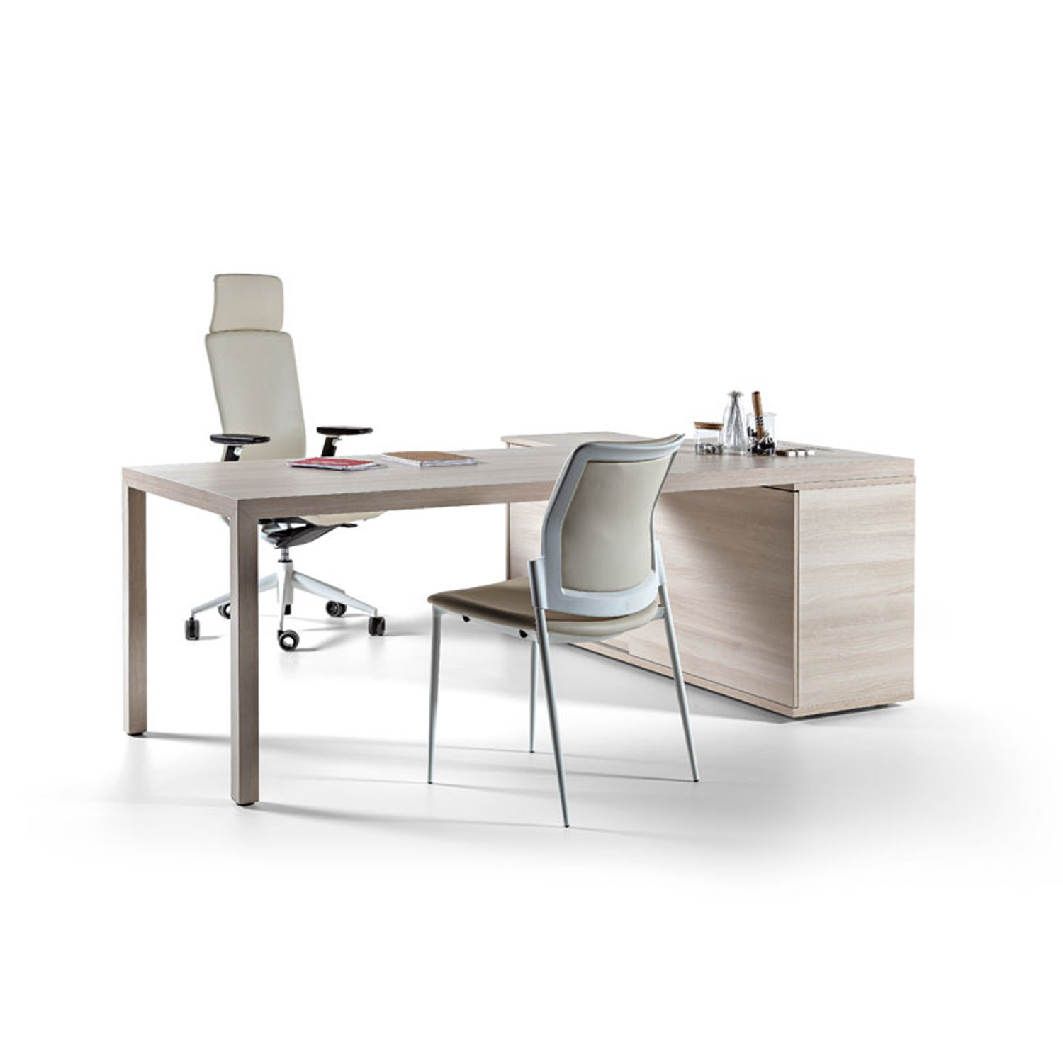 Prisma Office Desk and Return