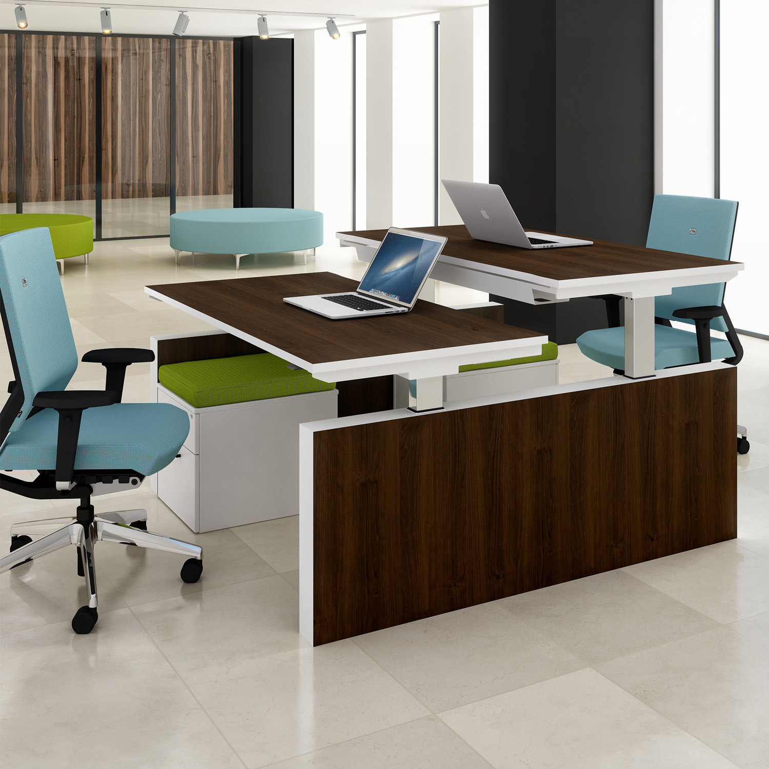 Progress Double Bench Desking from Elite