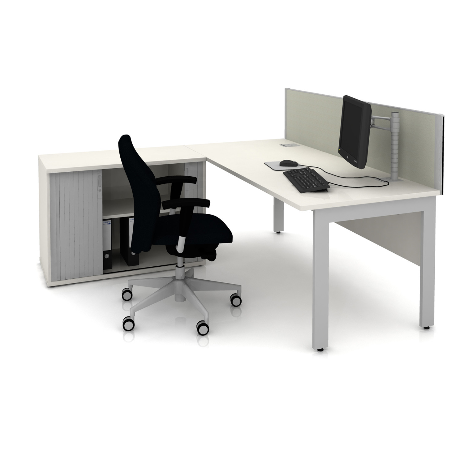 Qore Office Desk and Storage