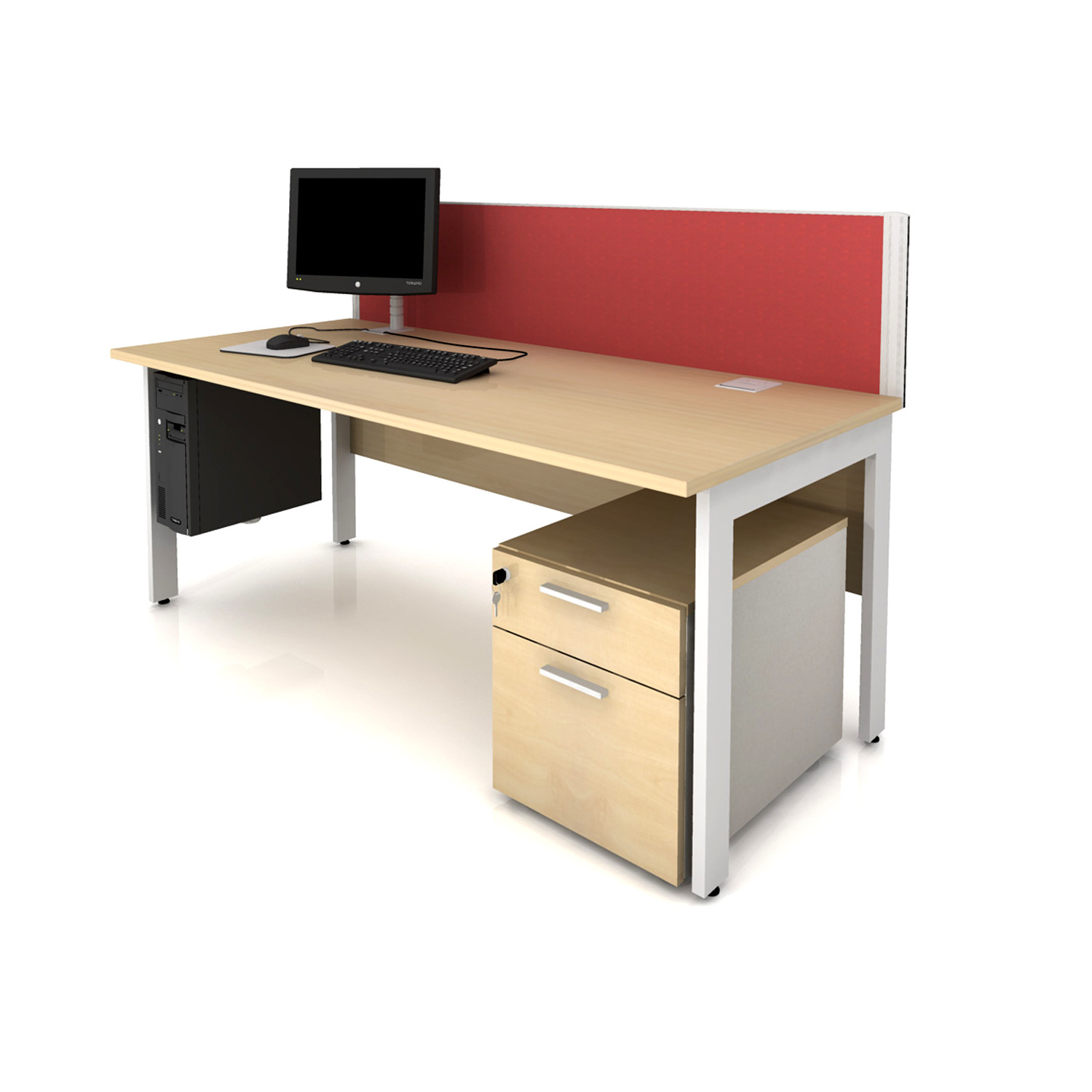 Qore Office Desk with Backboard