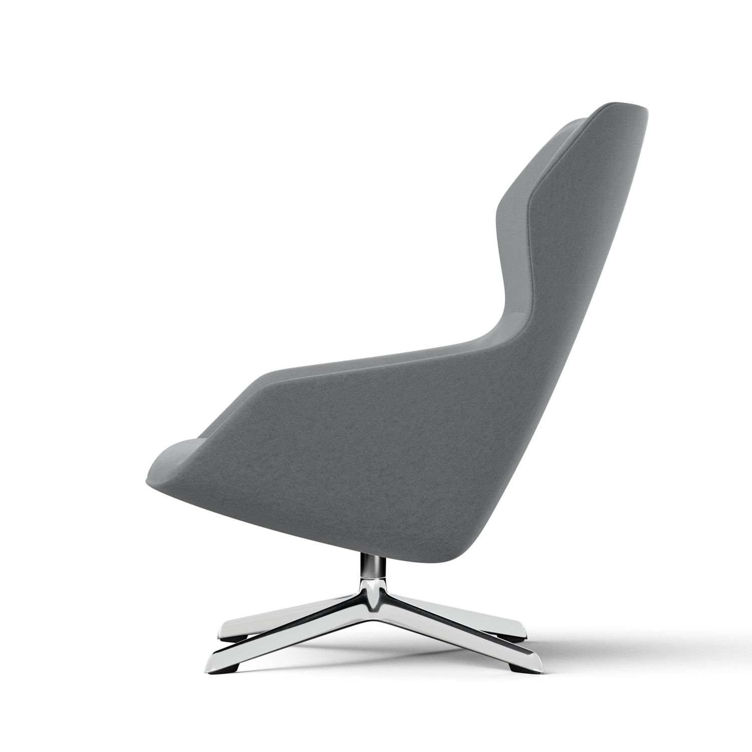 Ray Lounge Chair in Grey