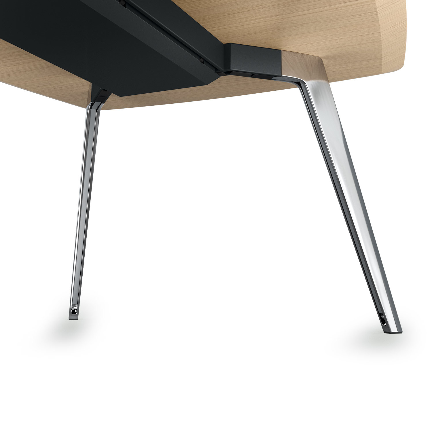 Ray Meeting Table Aluminium Leg Detail