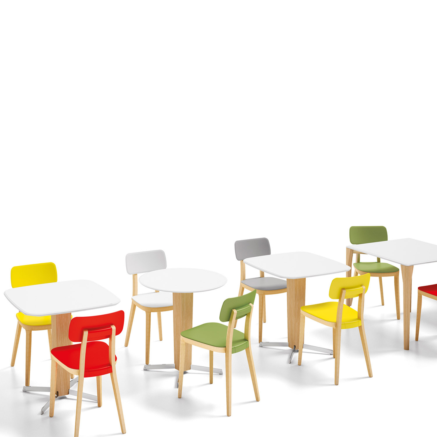Retro Breakout Chairs and Tables