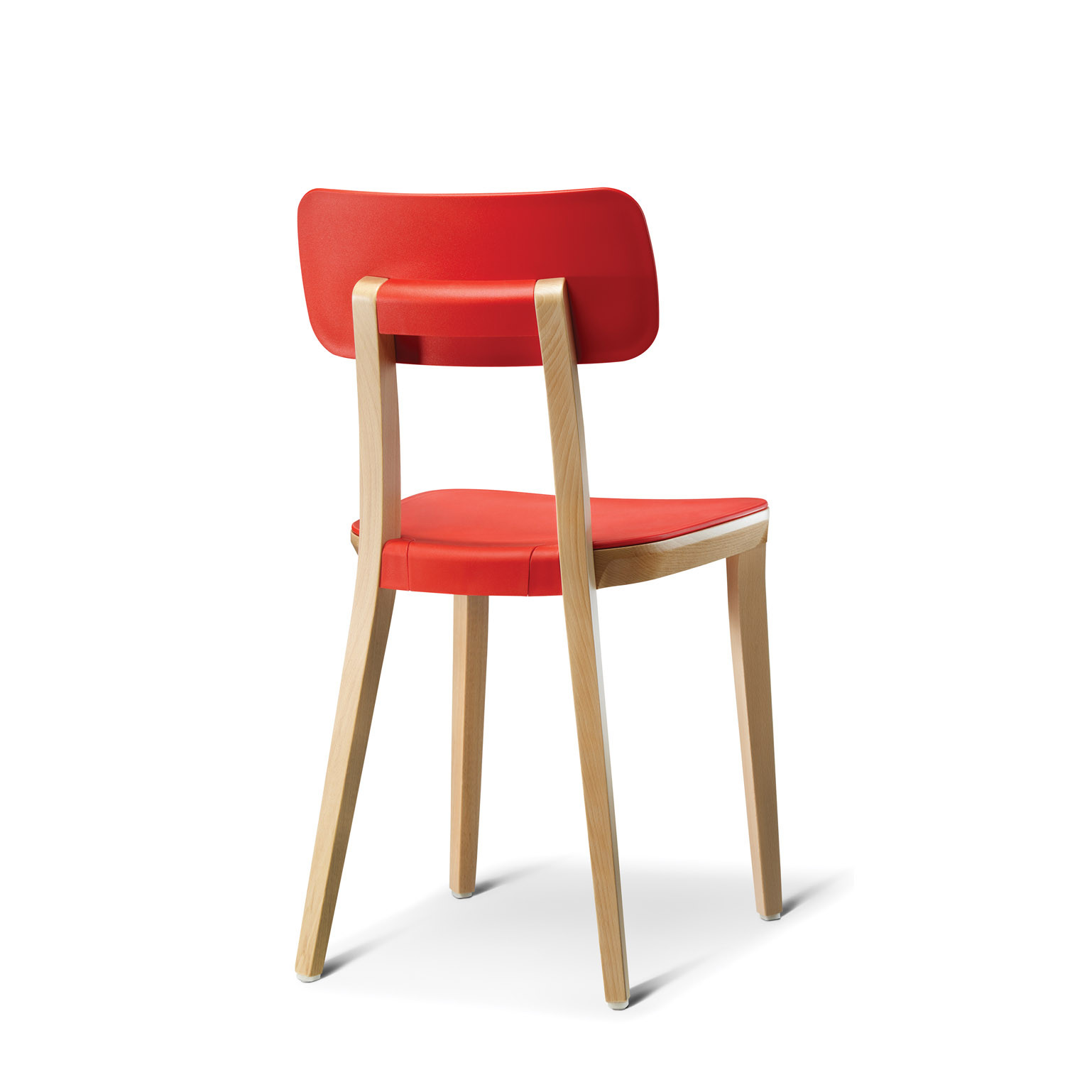 Retro Solid Wooden Chair Rear
