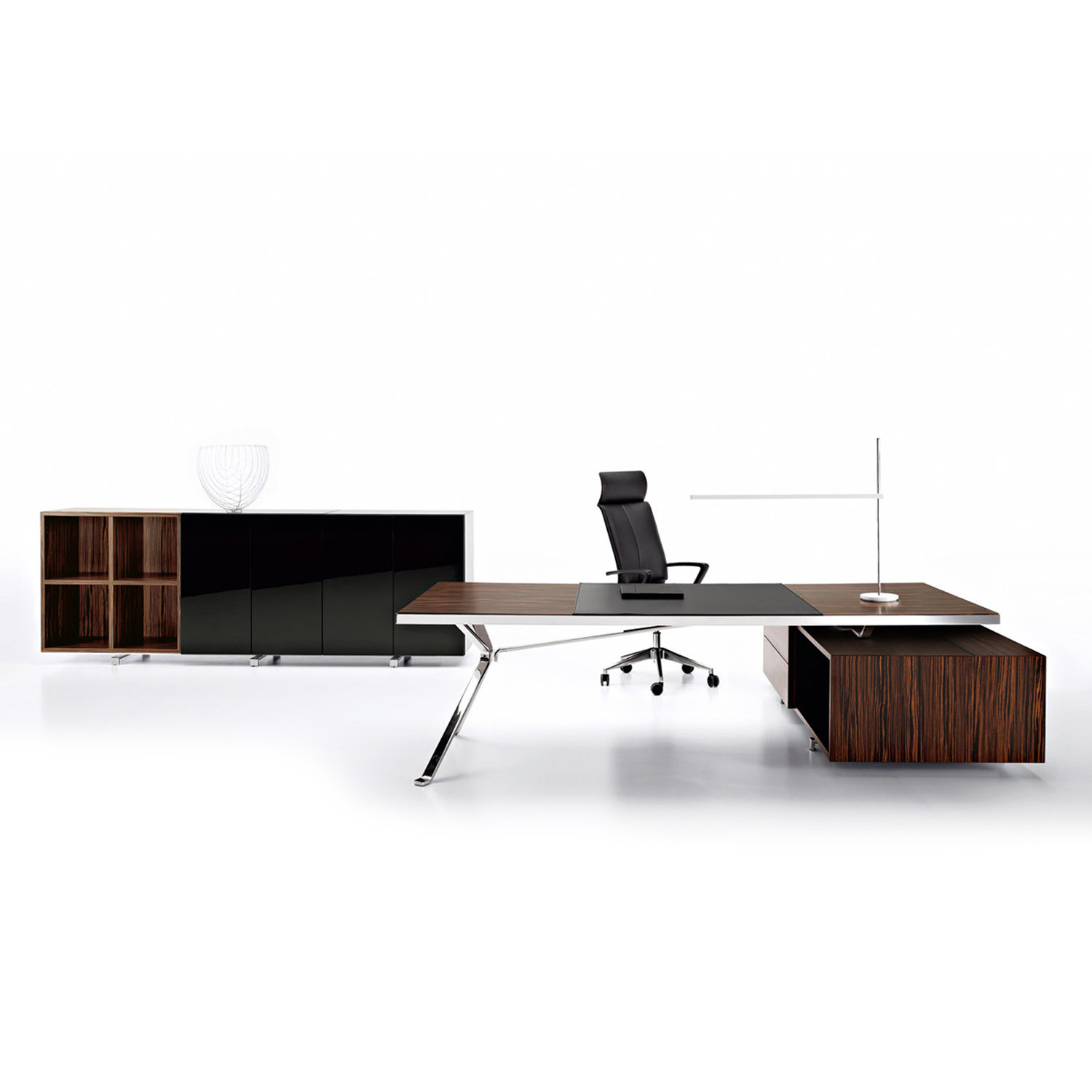Revo Executive Desk with return storage unit