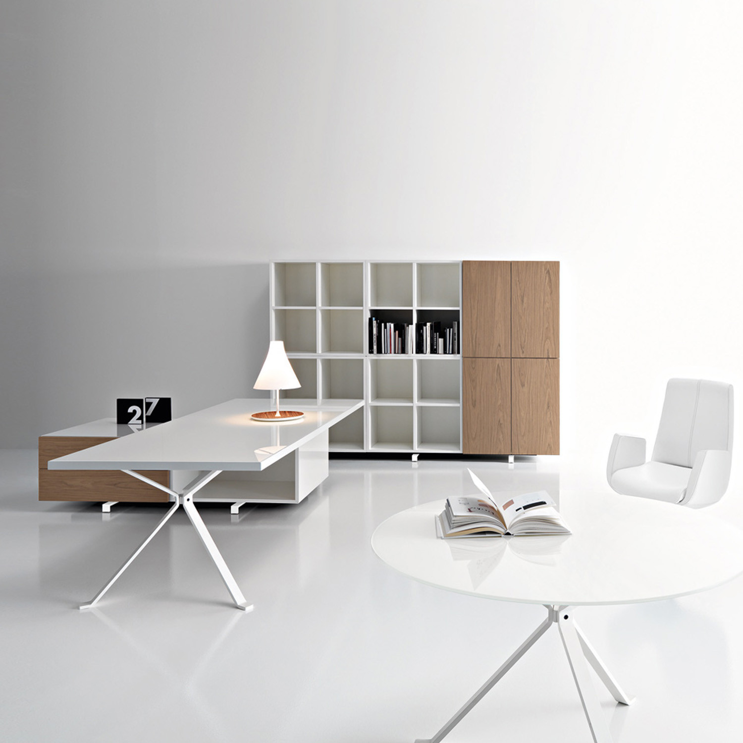 Revo White Executive Desk