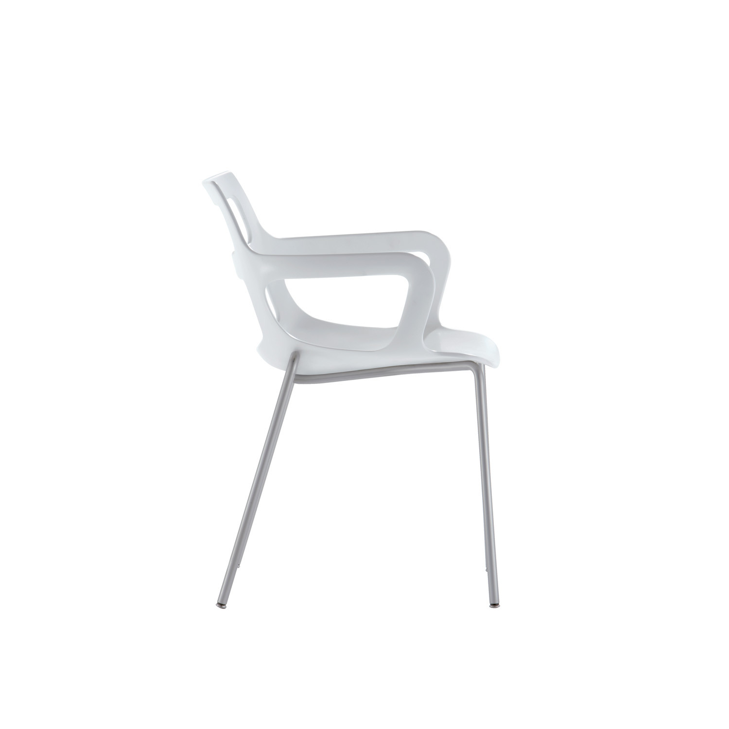 Salsa Stacking Armchair with 4-Legged Base