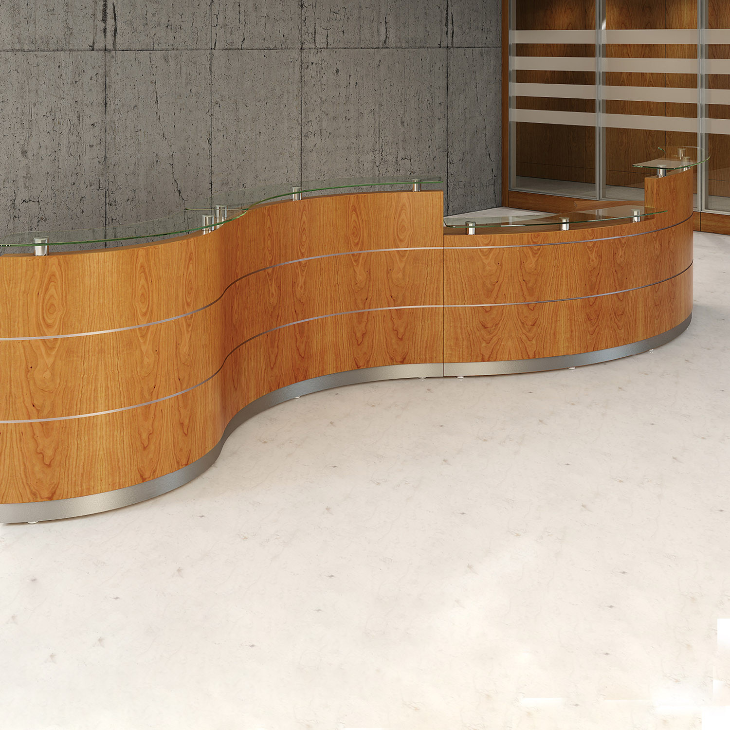 Scene Curved Reception Desks by Tula