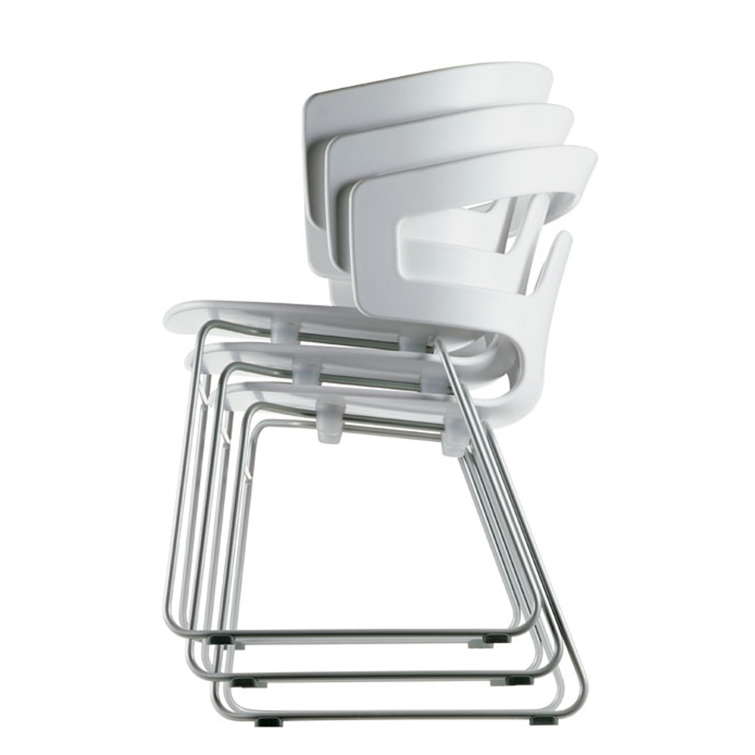 Segesta Armchair stacks up to 10 chairs