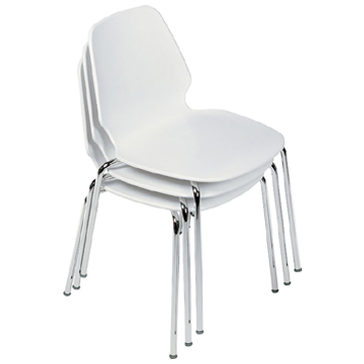 Selinunte 4-Leg Chair Stacks up to 10